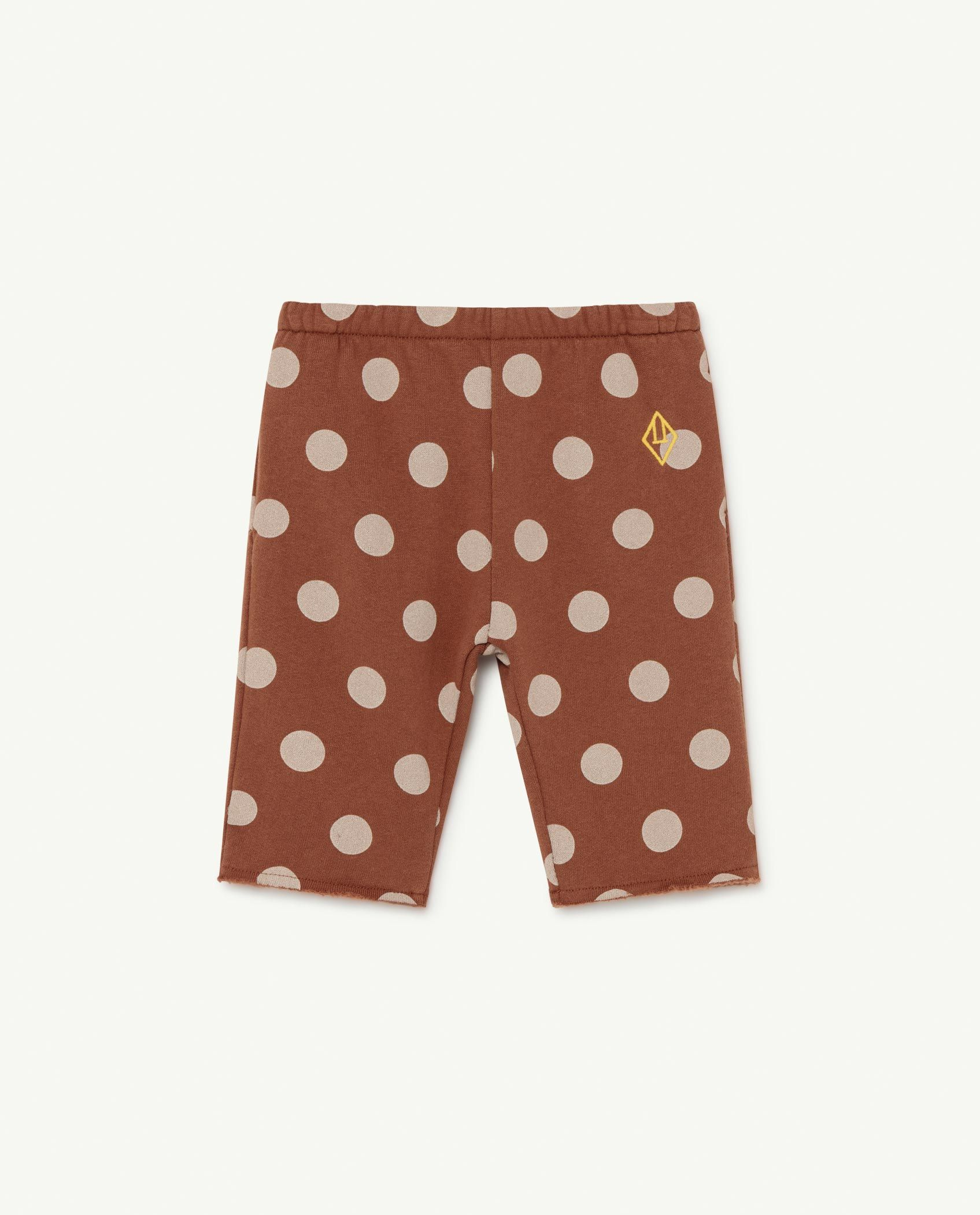 Brown Dots Horse Baby Trousers img-1