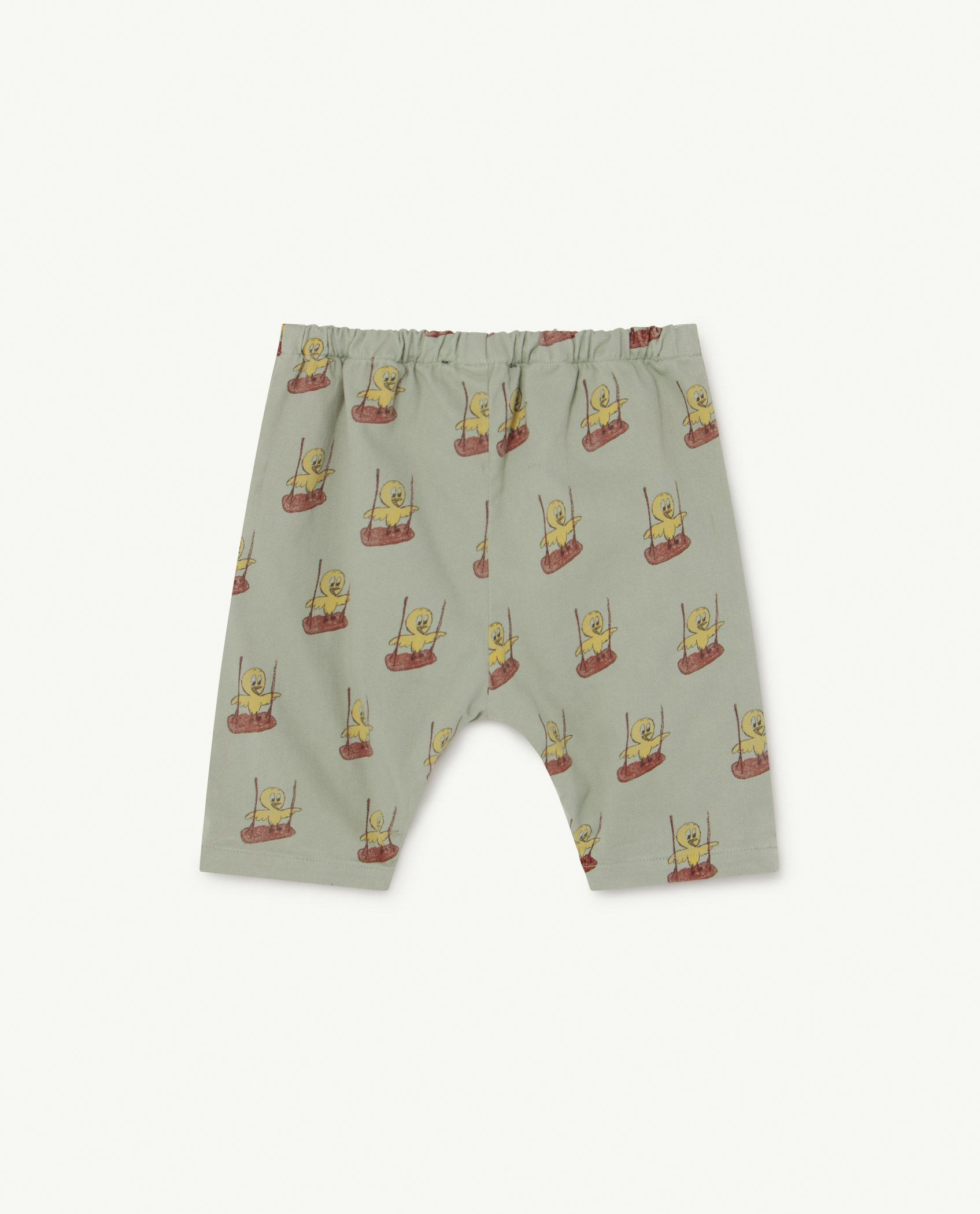 Soft Green Birds Elephant Baby Trousers img-2