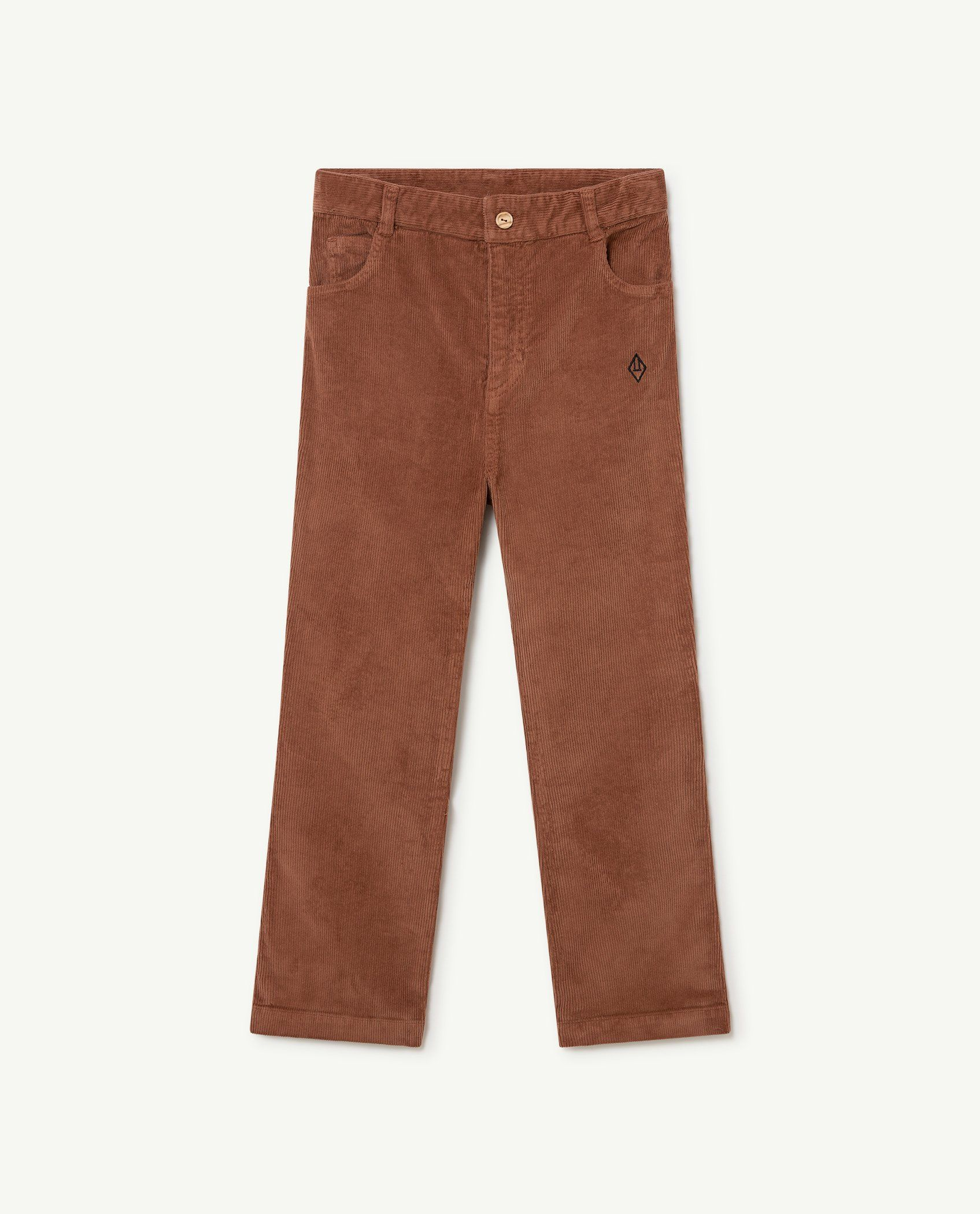 Brown Logo Porcupine Trousers img-1