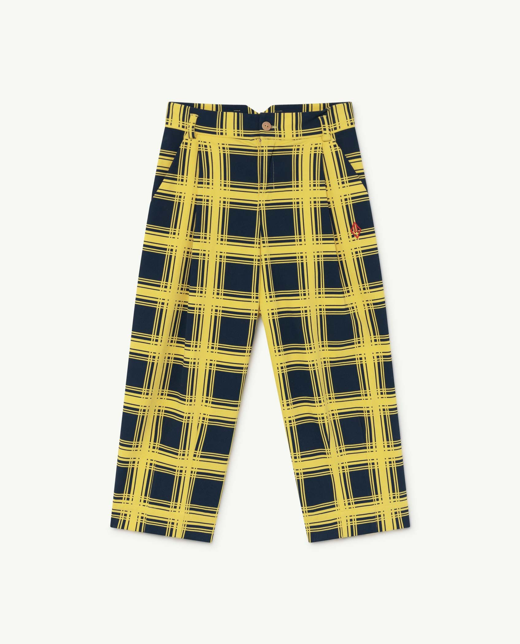 Yellow Squares Emu Trousers img-1