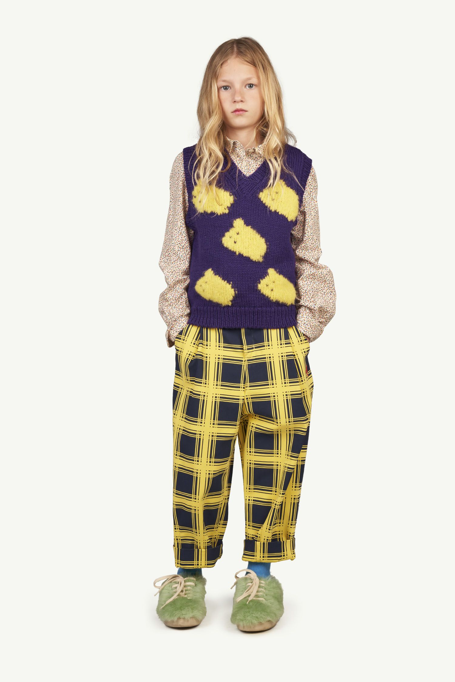 Yellow Squares Emu Trousers img-4