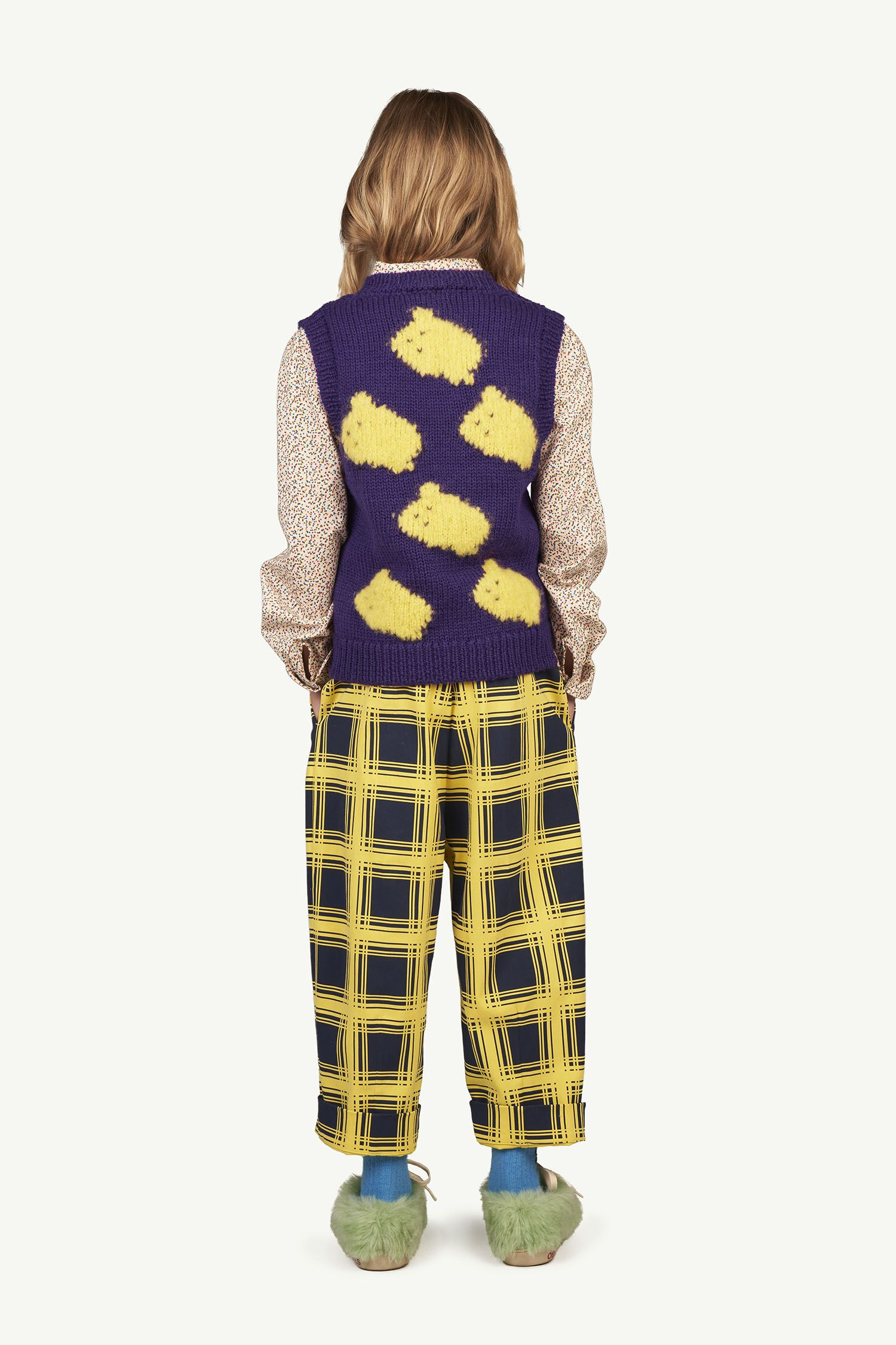 Yellow Squares Emu Trousers img-6