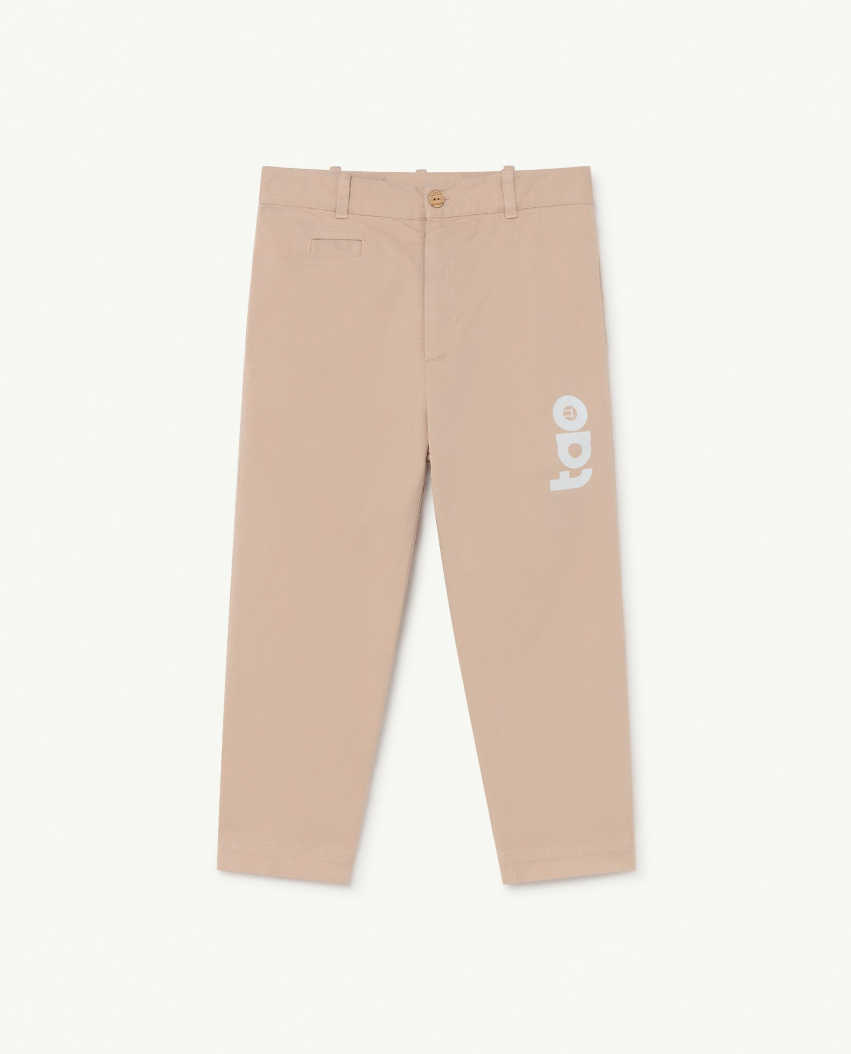 Soft Pink Logo Camel Trousers img-1