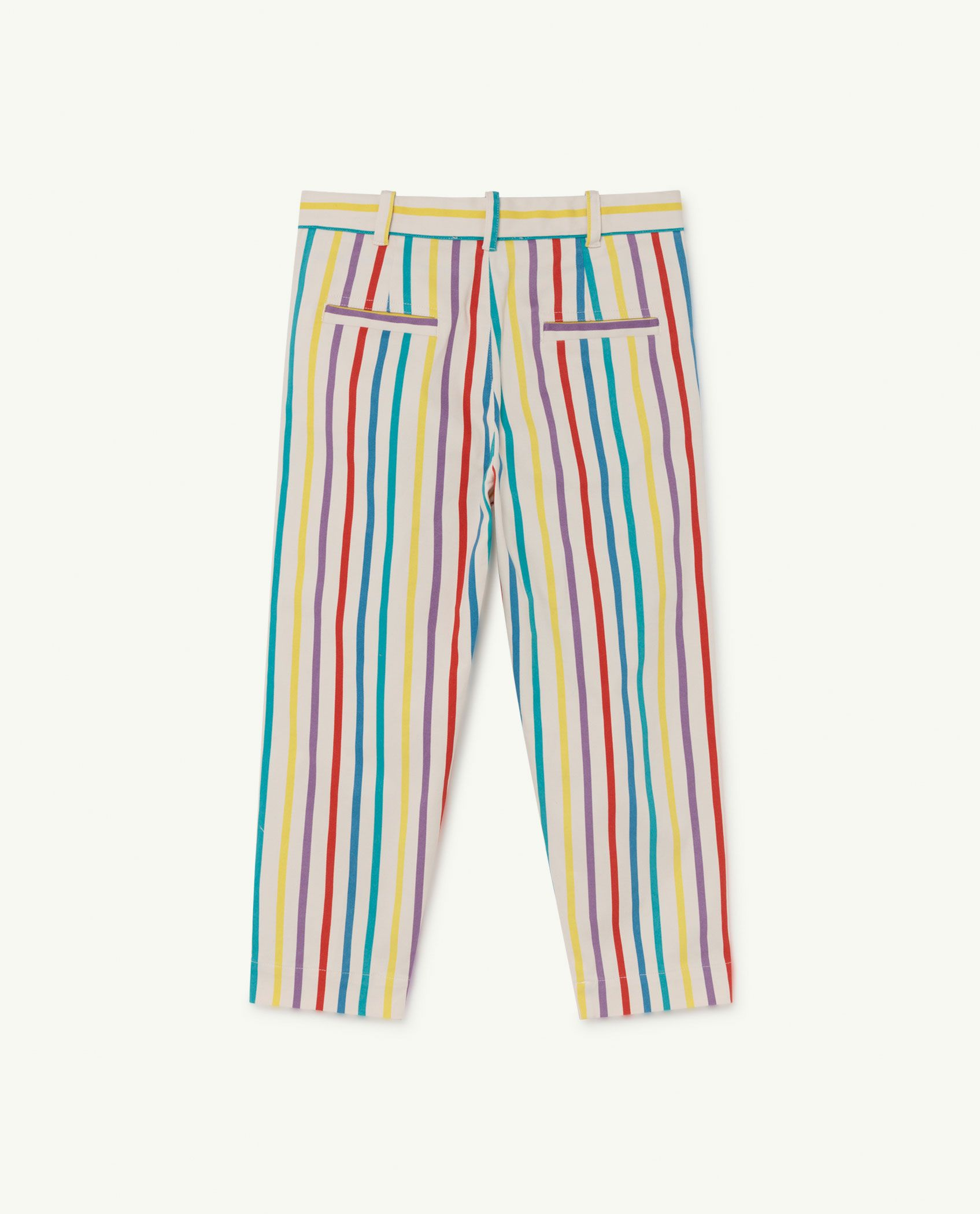 White Stripes Camel Trousers img-2