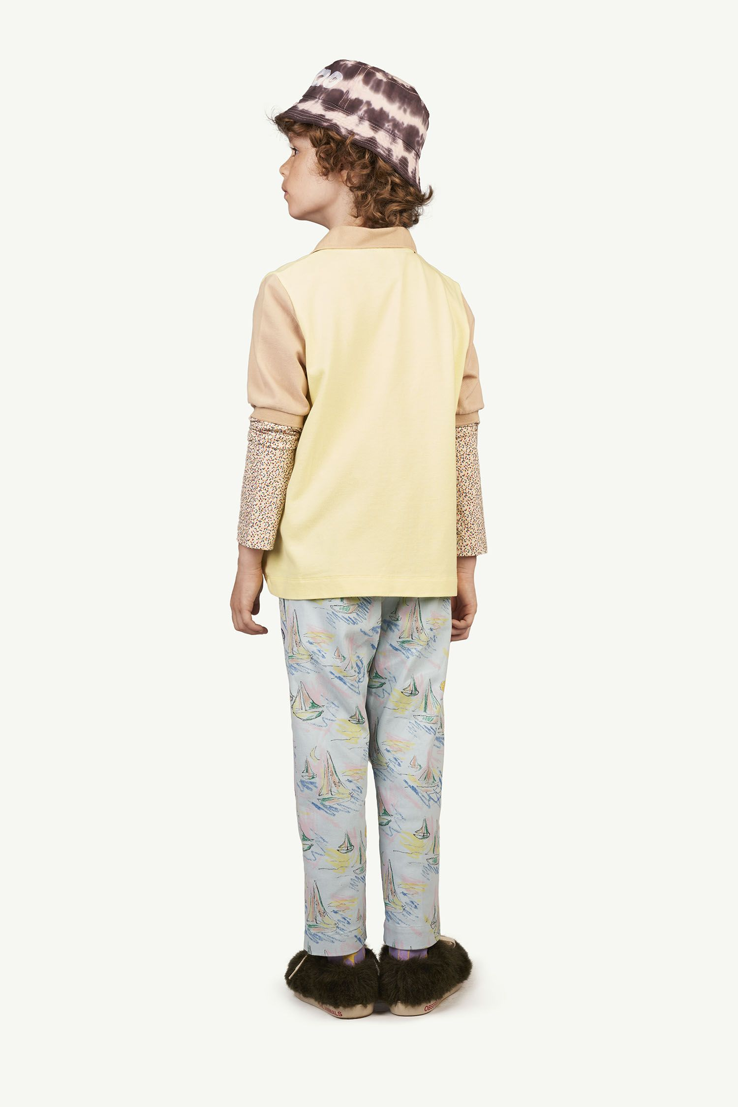 Soft Blue Boats Camel Trousers img-6