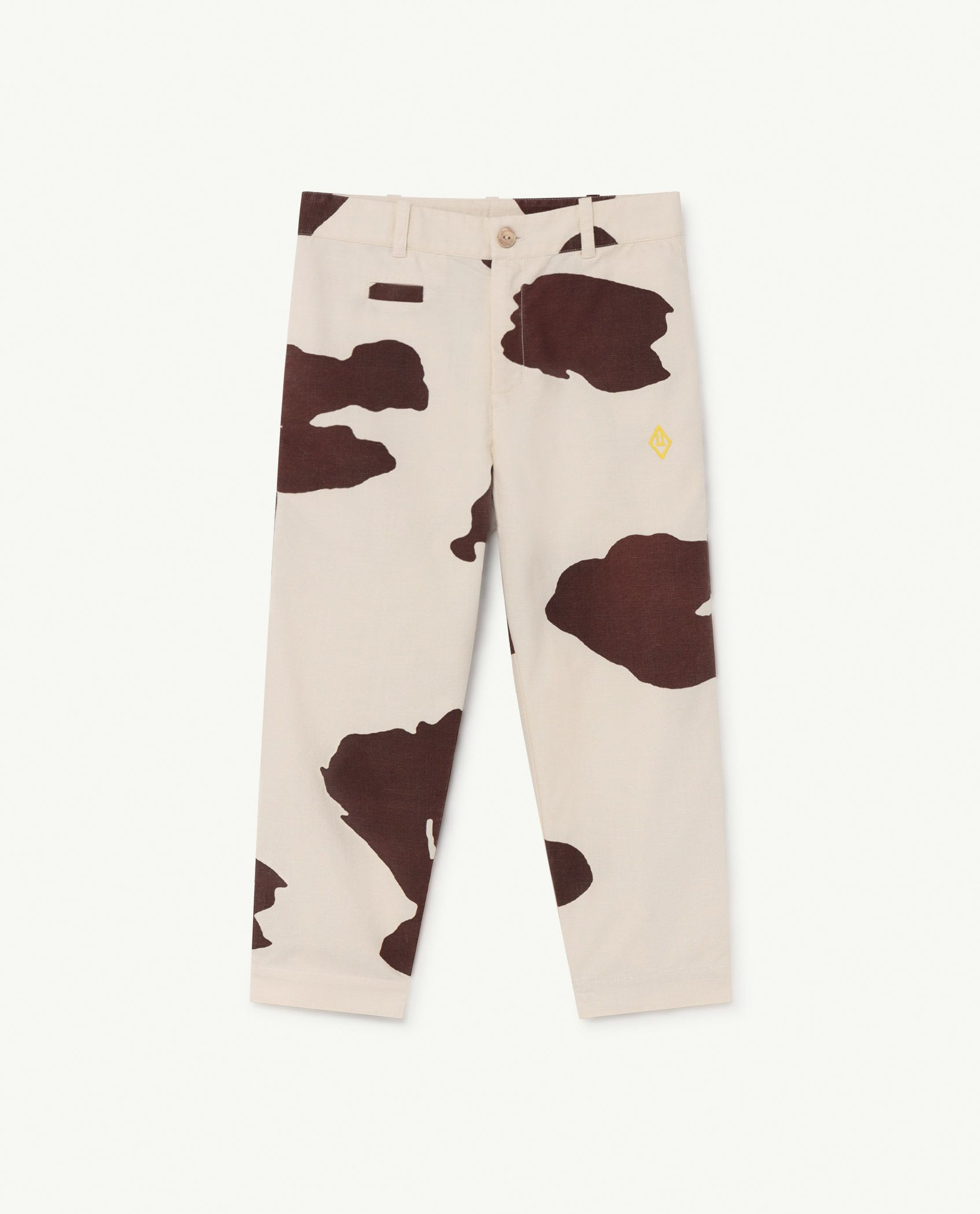 White Cow Camel Trousers img-1