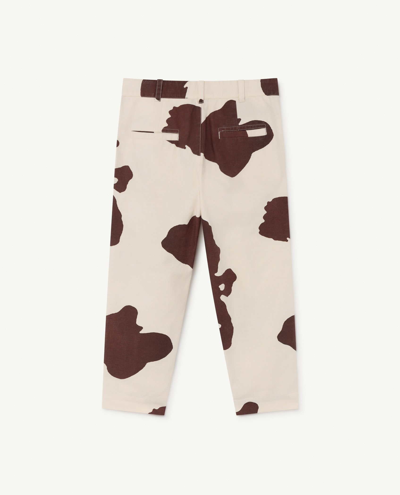 White Cow Camel Trousers img-2