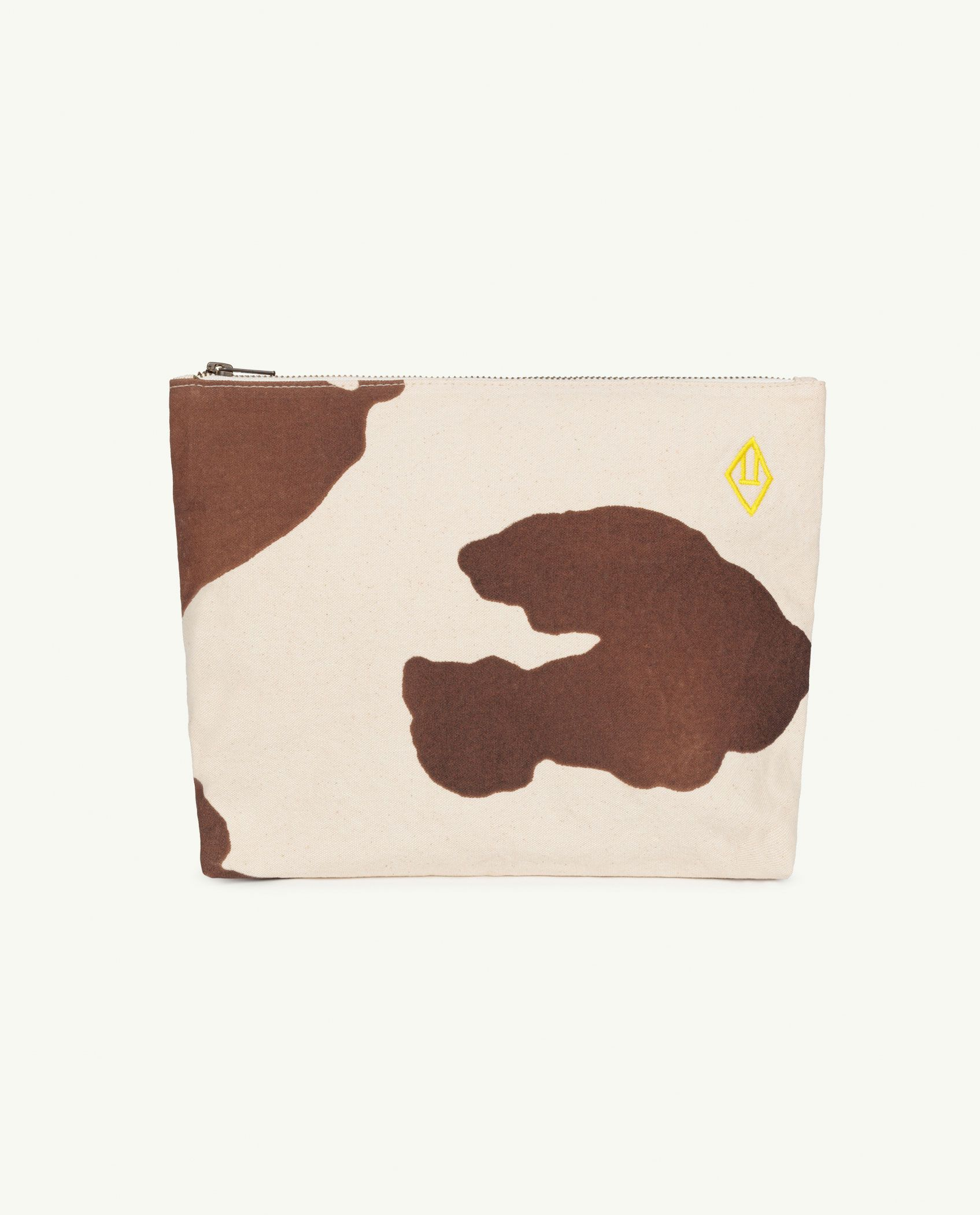 Raw White Cow Pouch Bag img-1