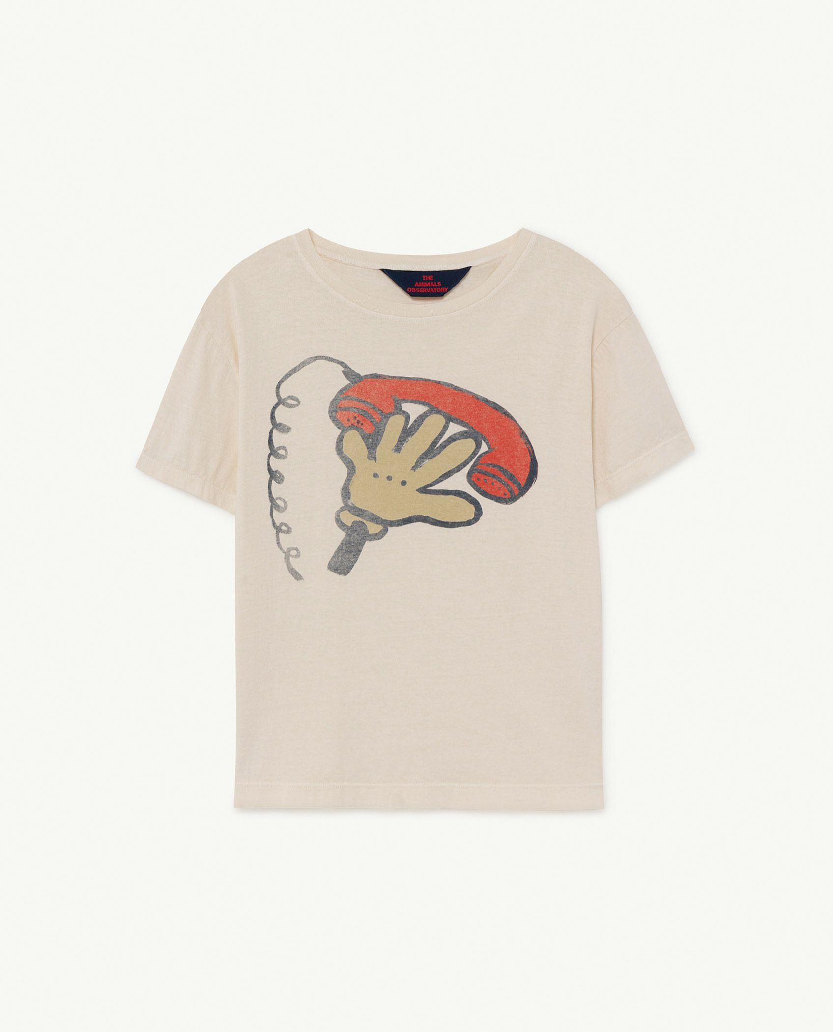 White Telephone Rooster T-Shirt img-1