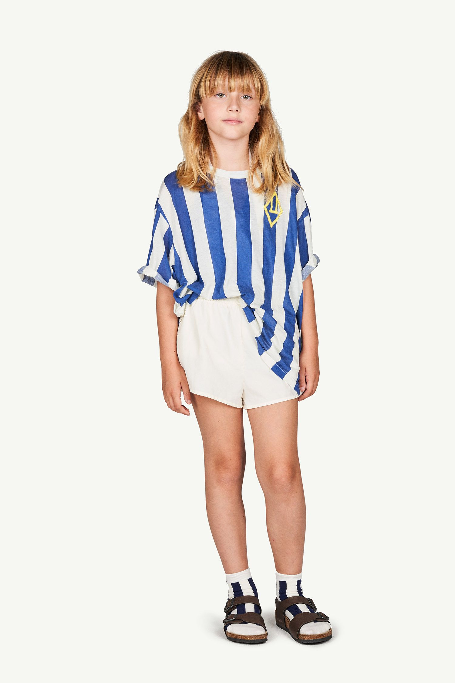 White Stripes Rooster Oversize T-Shirt img-4