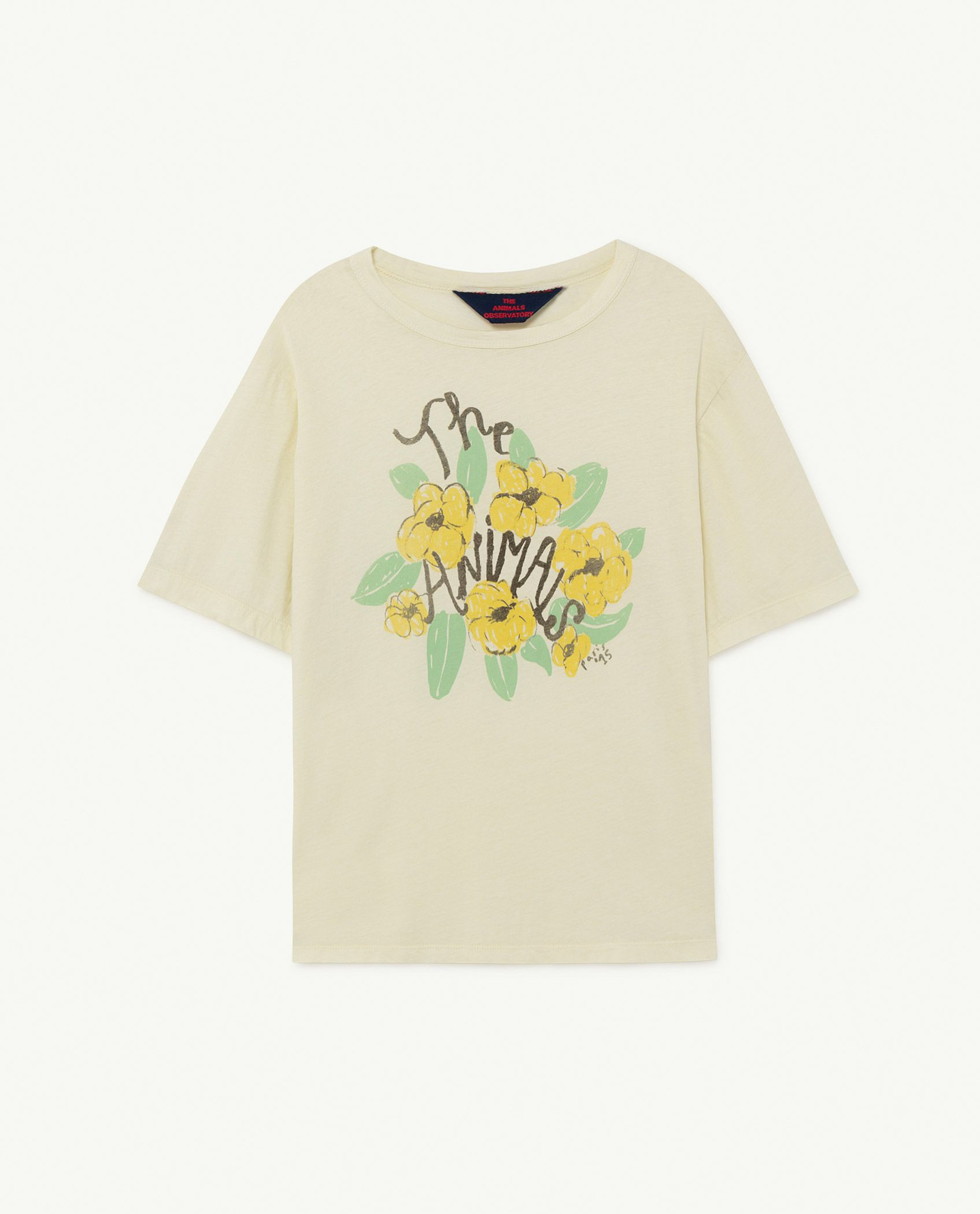 White Flowers Rooster Oversize T-shirt img-1