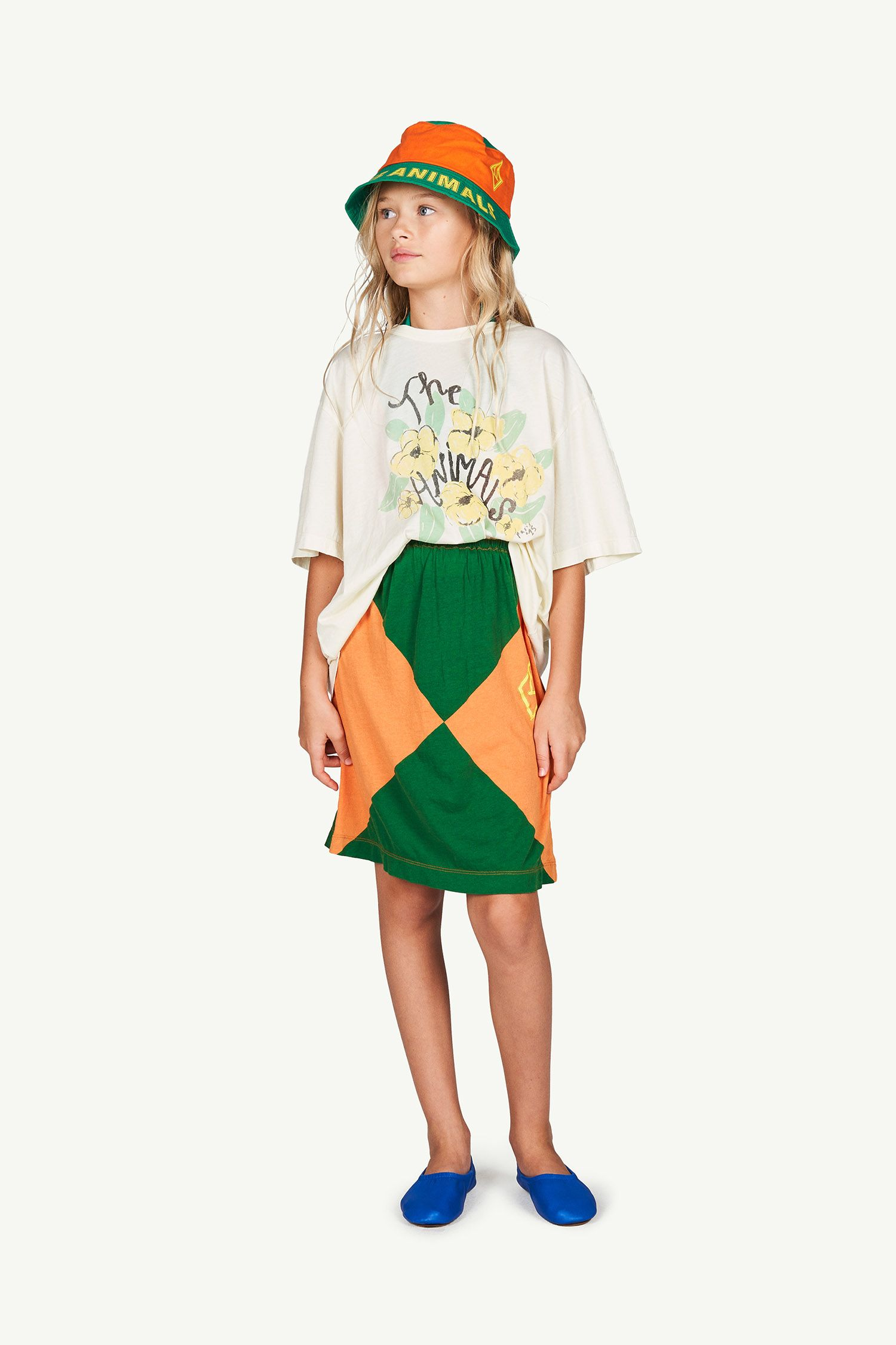White Flowers Rooster Oversize T-shirt img-4
