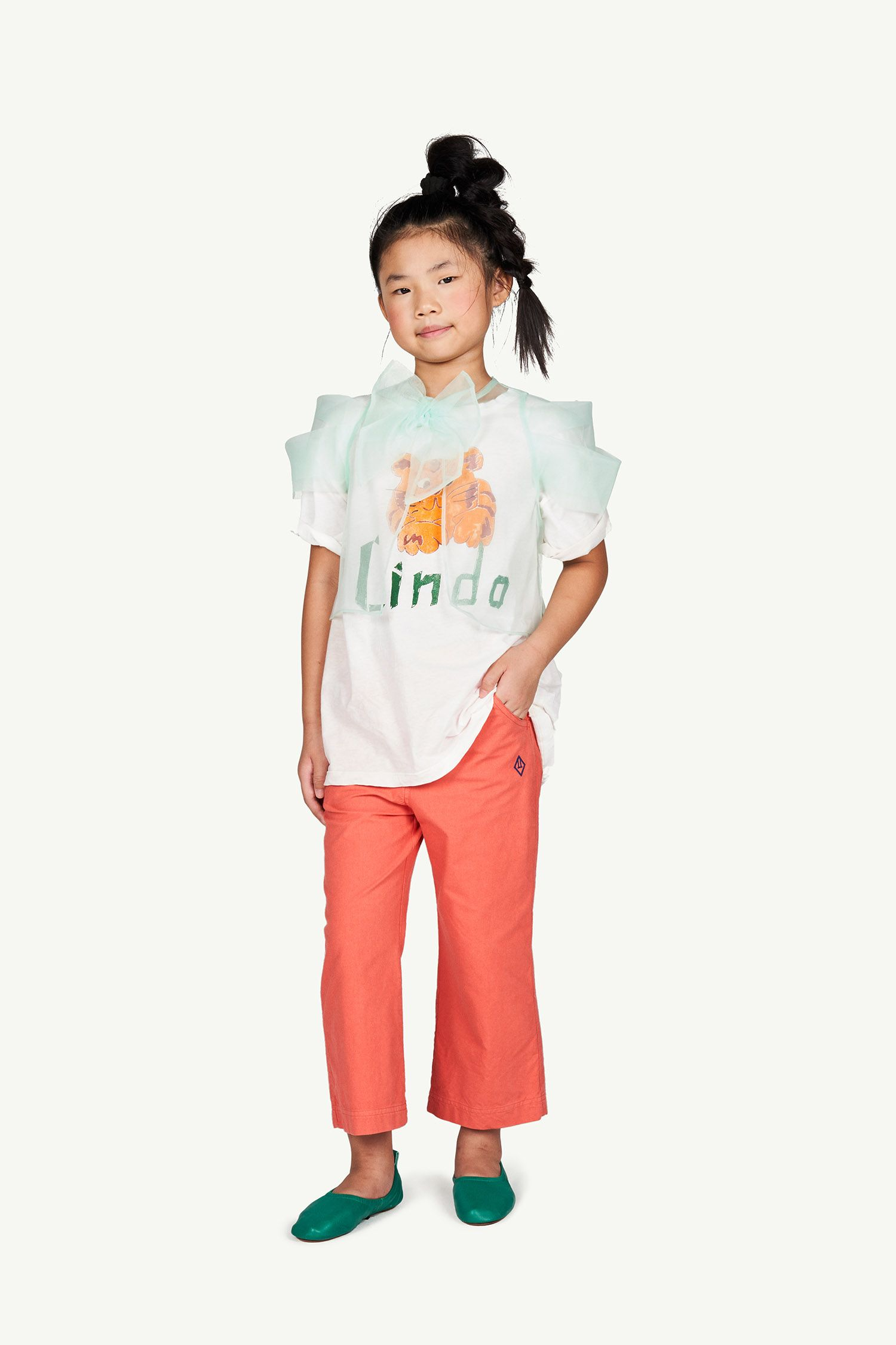 White Lindo Rooster Oversize T-shirt img-4