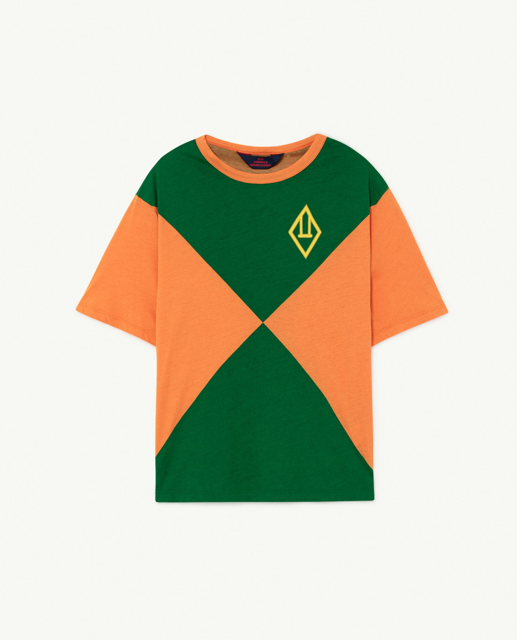 Orange Triangles Rooster Oversize T-shirt img-1