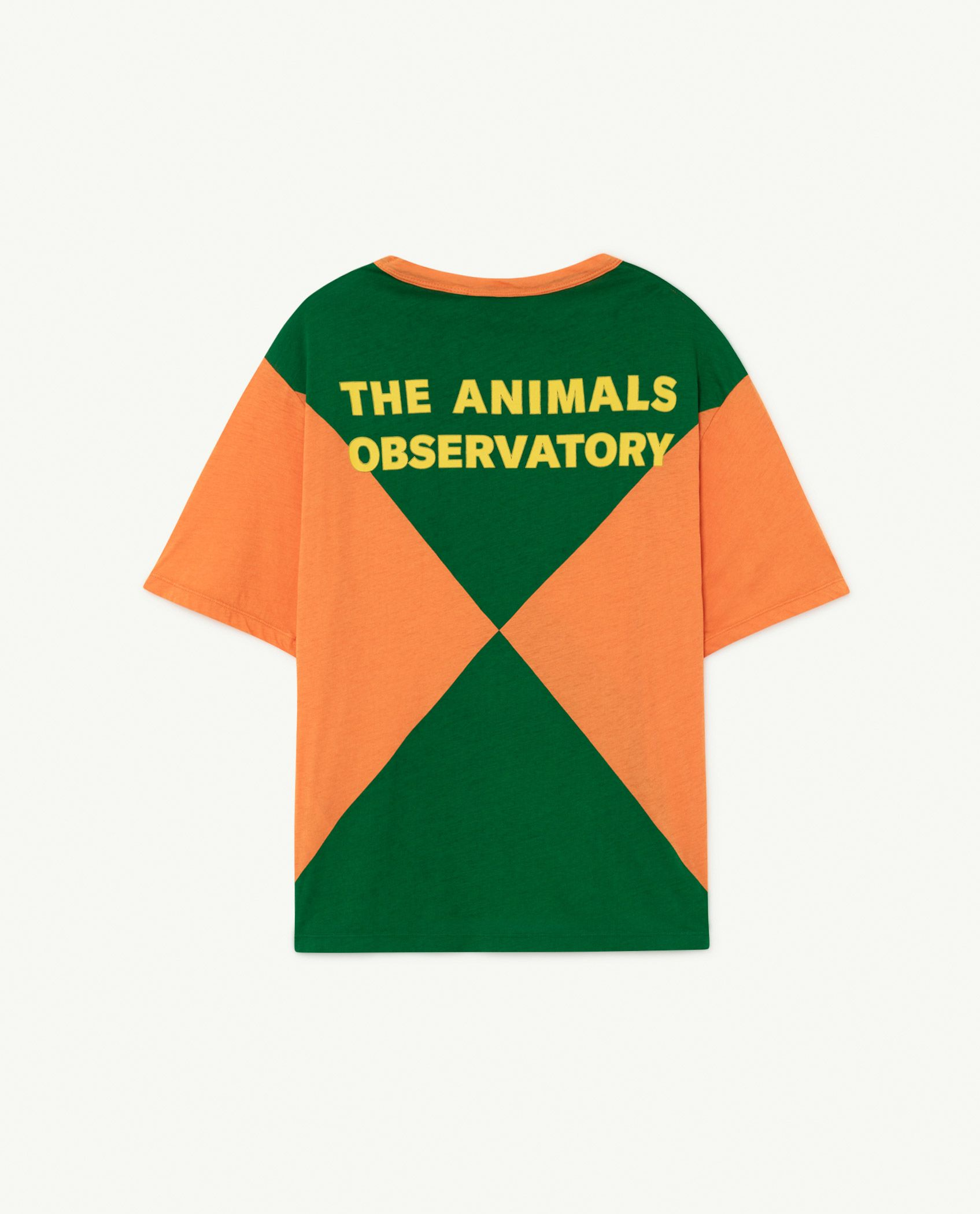 Orange Triangles Rooster Oversize T-shirt img-2