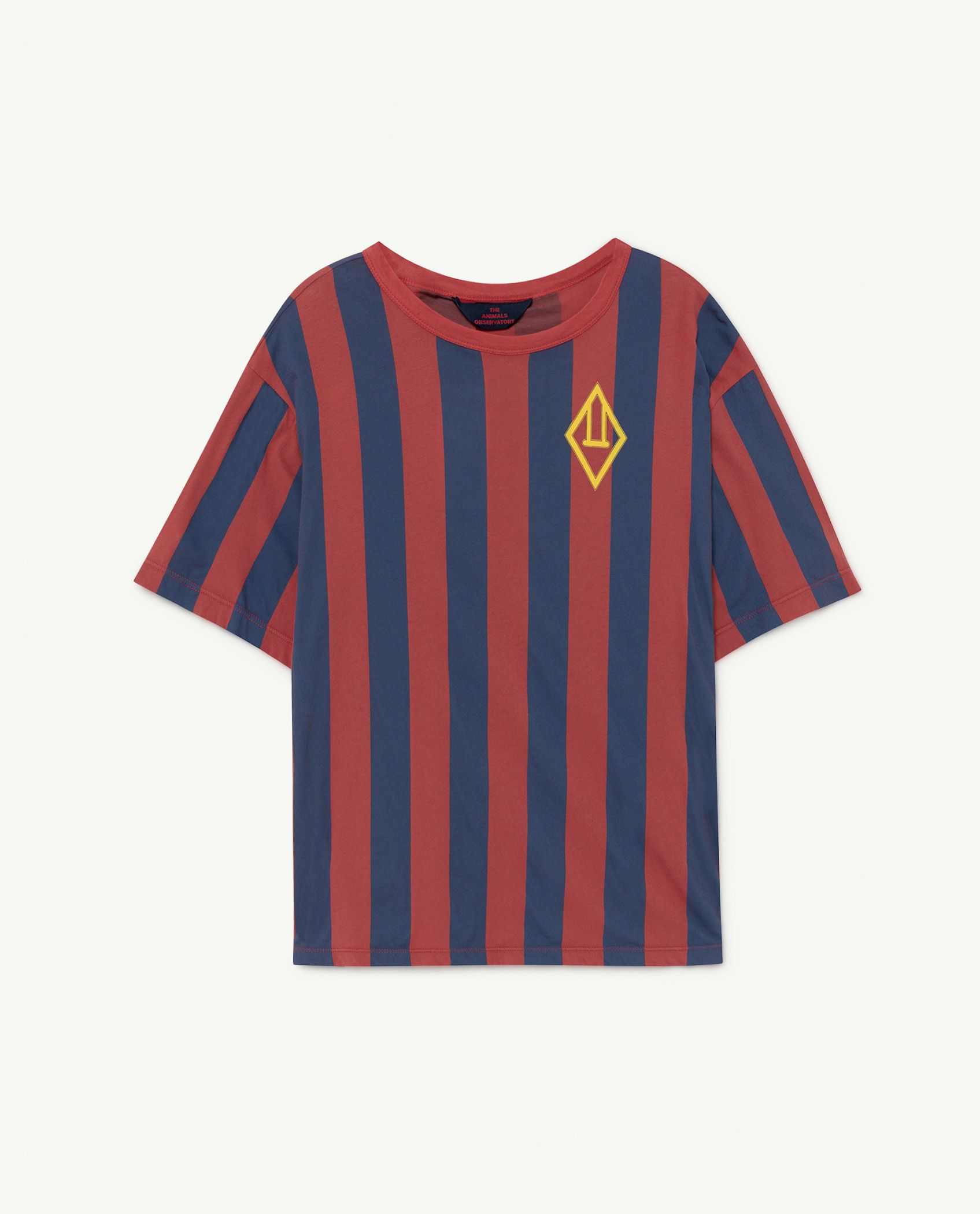 Red Stripes Rooster Oversize T-shirt img-1