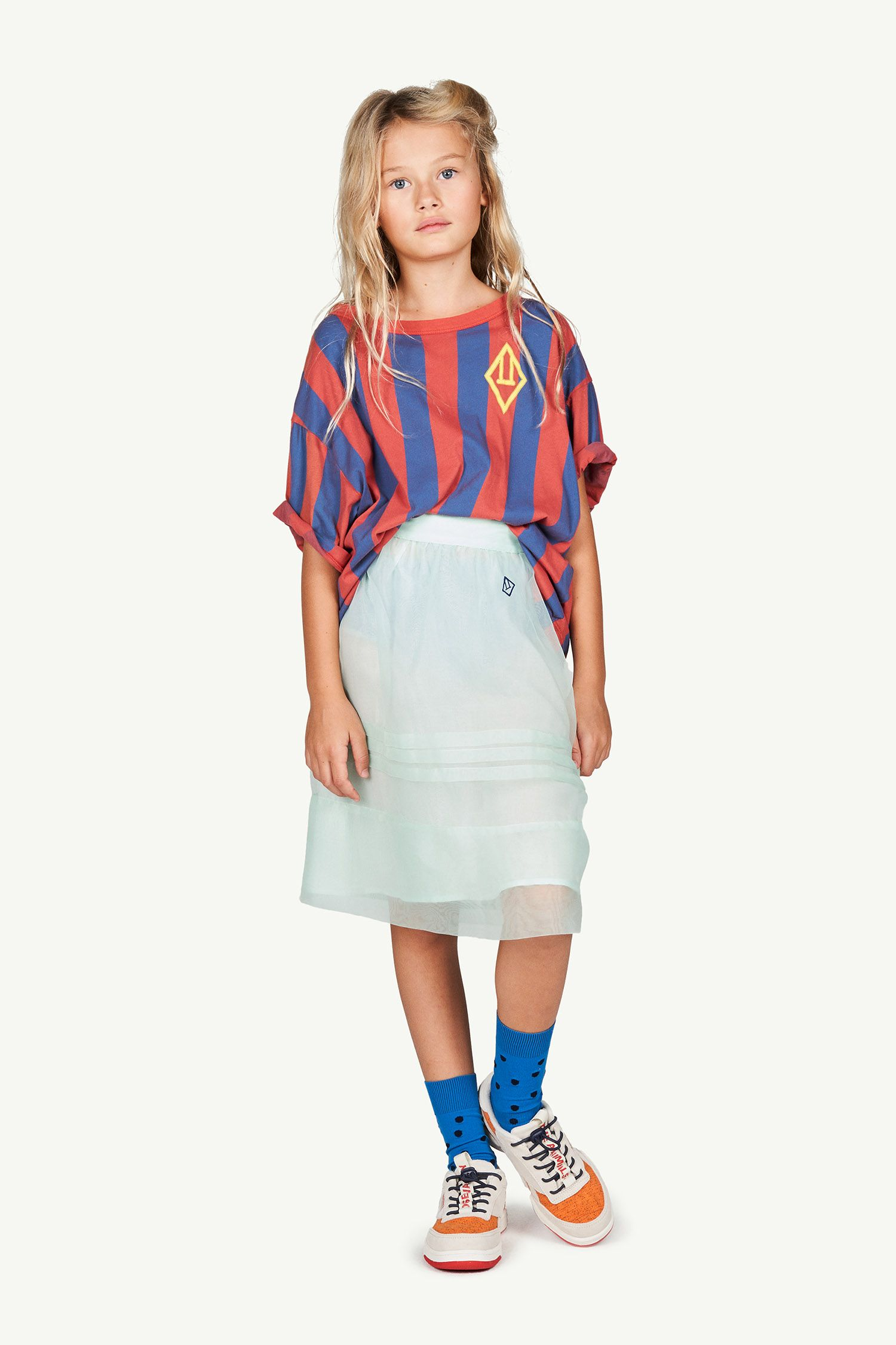 Red Stripes Rooster Oversize T-shirt img-4