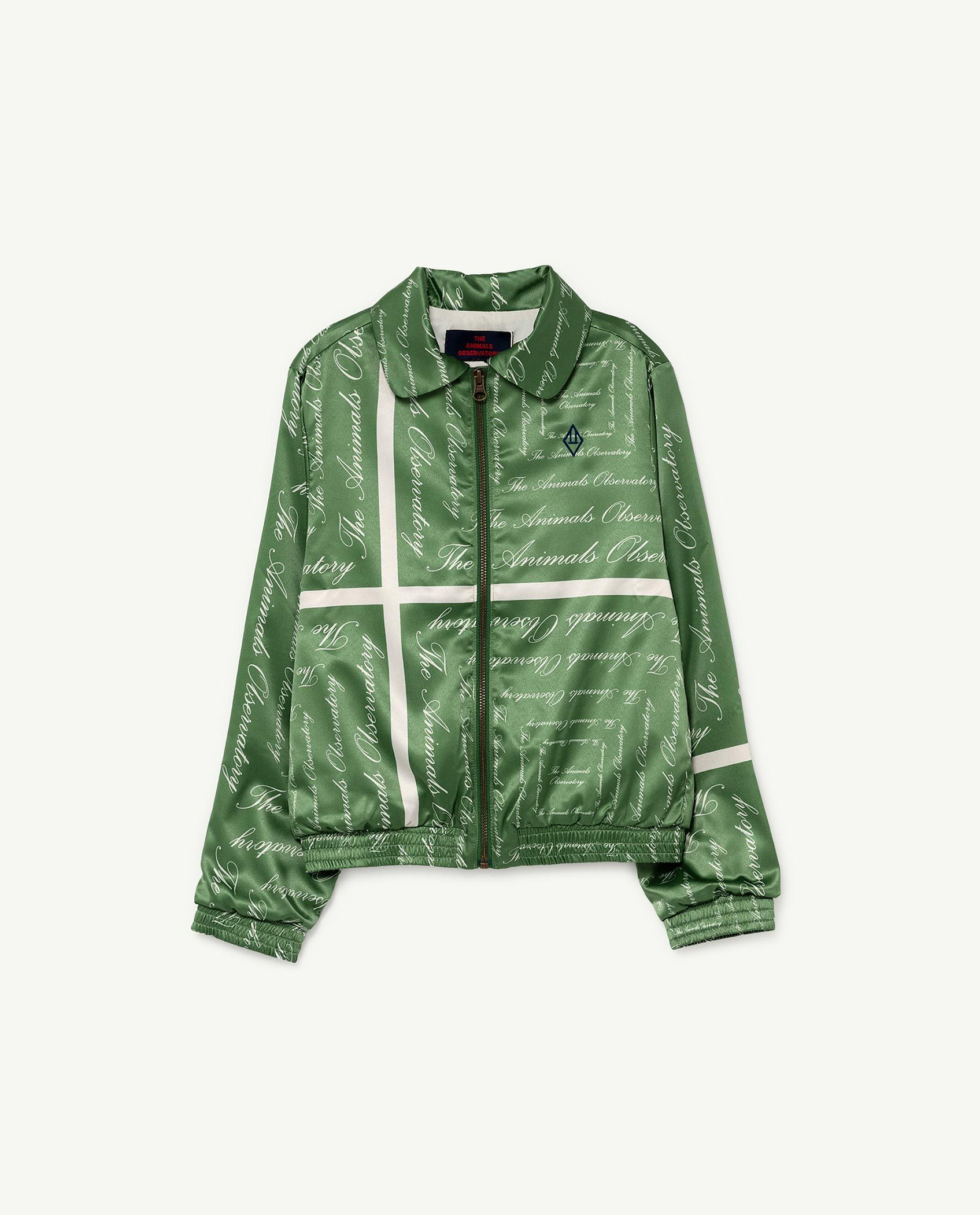 Green The Animals Silky Tiger Jacket img-1