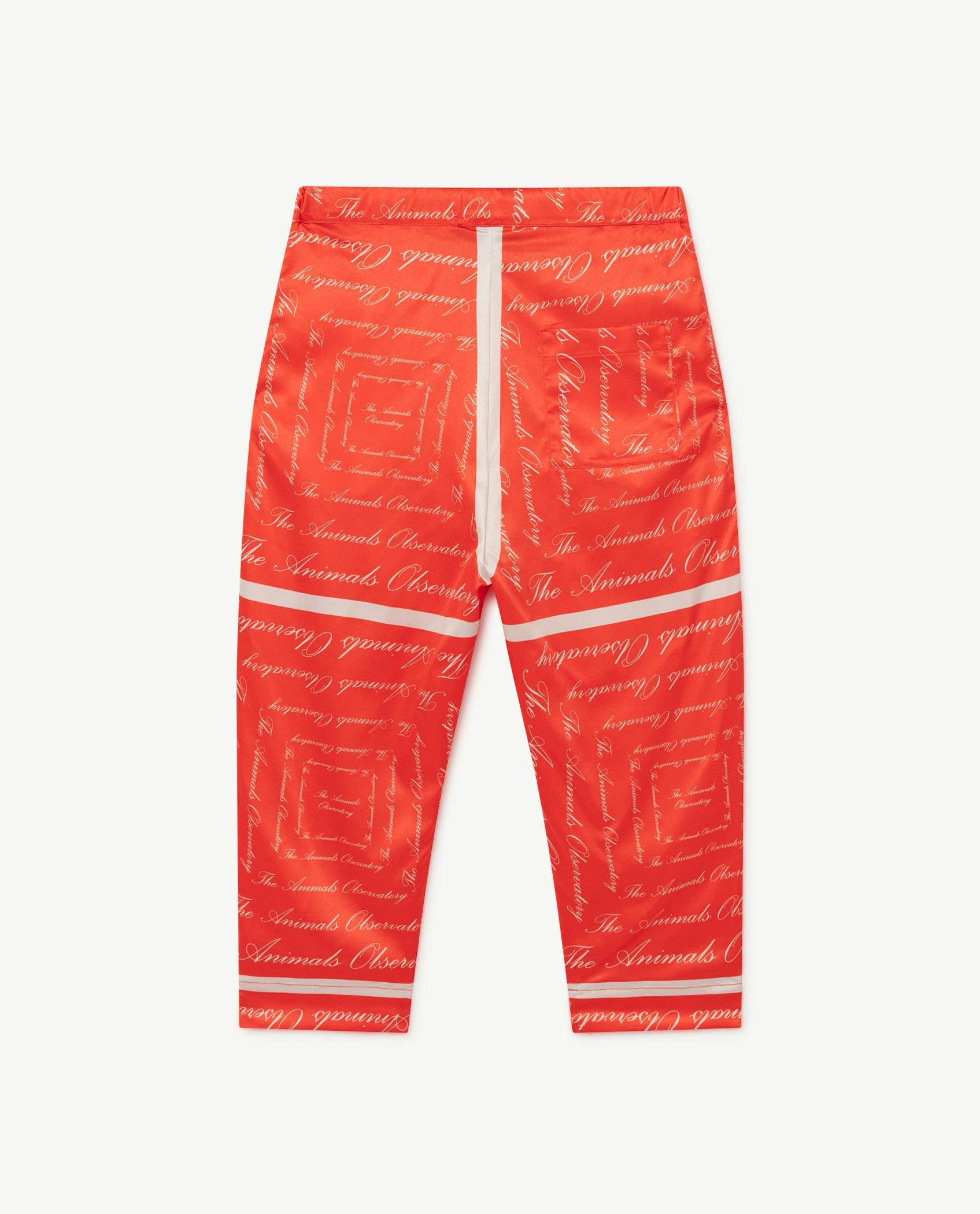 Red The Animals Silky Elephant Trousers img-2