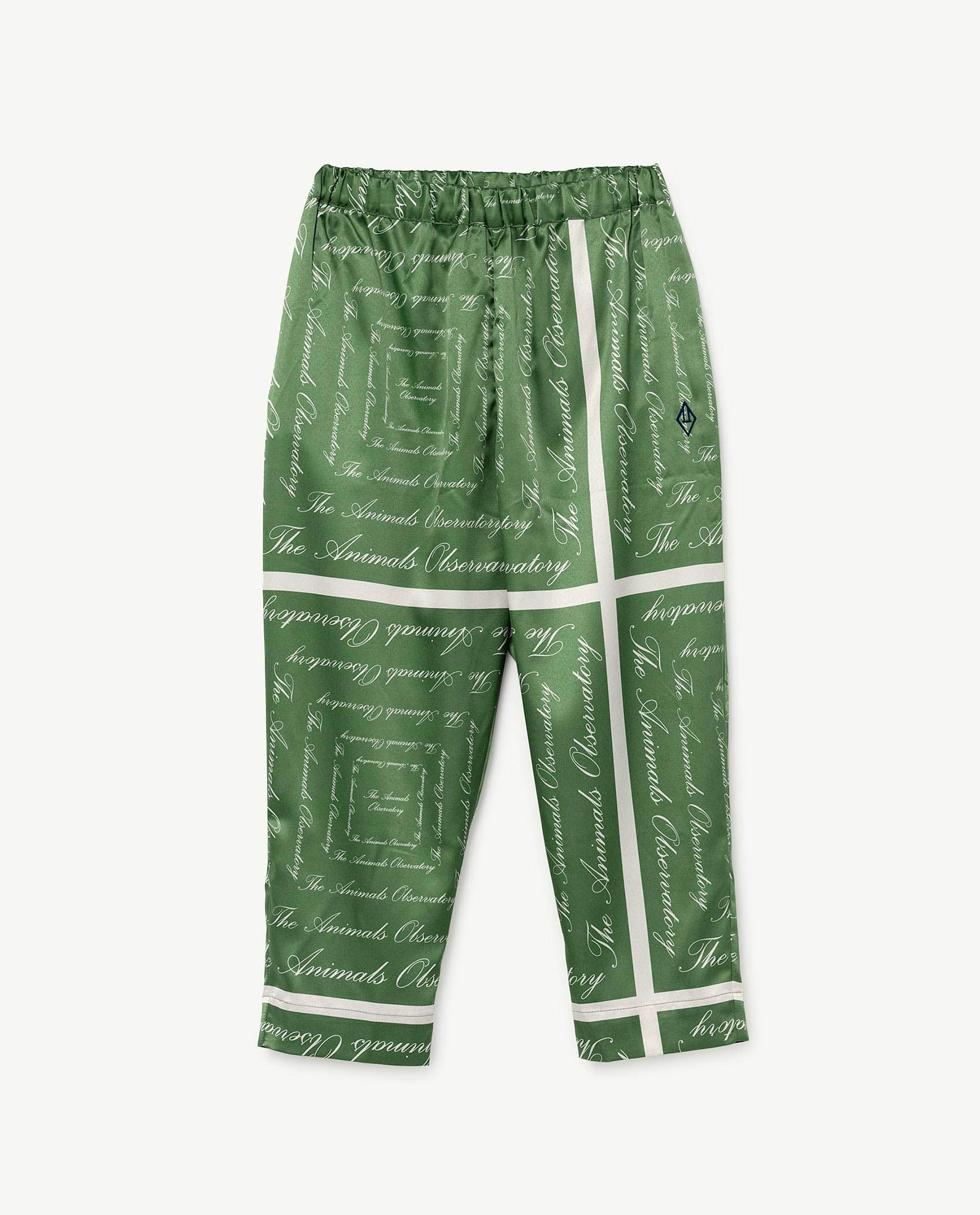 Green The Animals Silky Elephant Trousers img-1