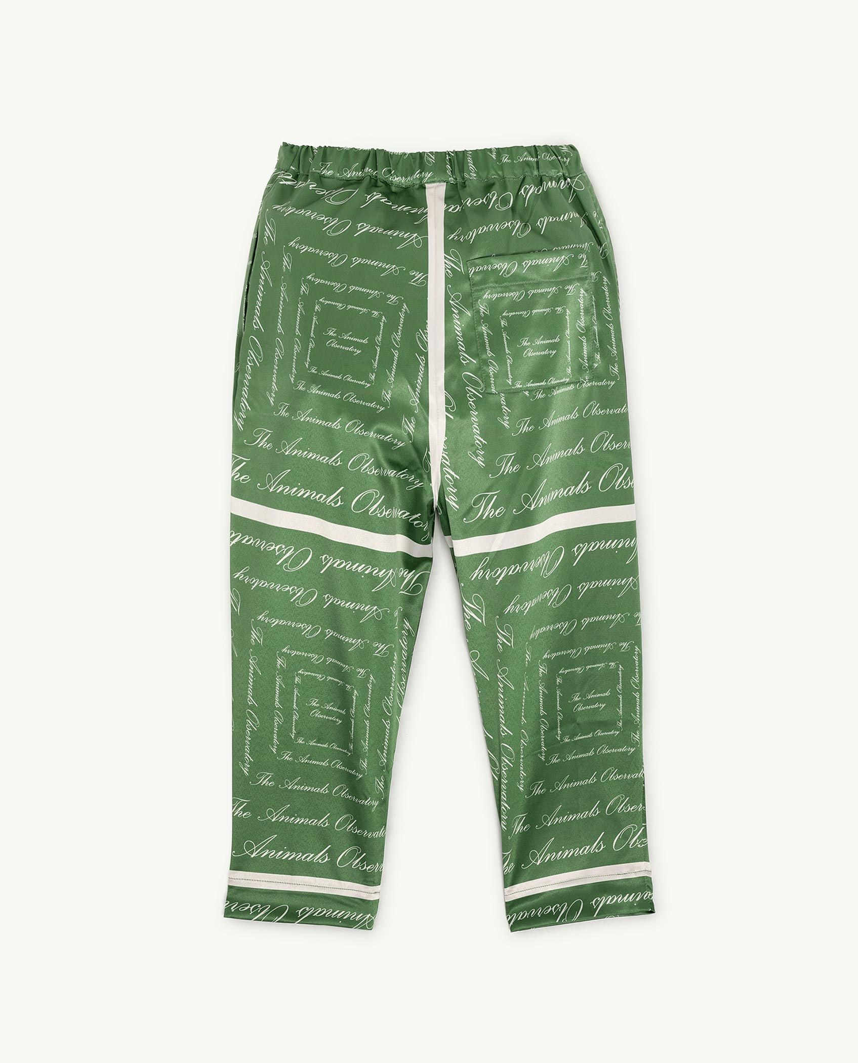 Green The Animals Silky Elephant Trousers img-2