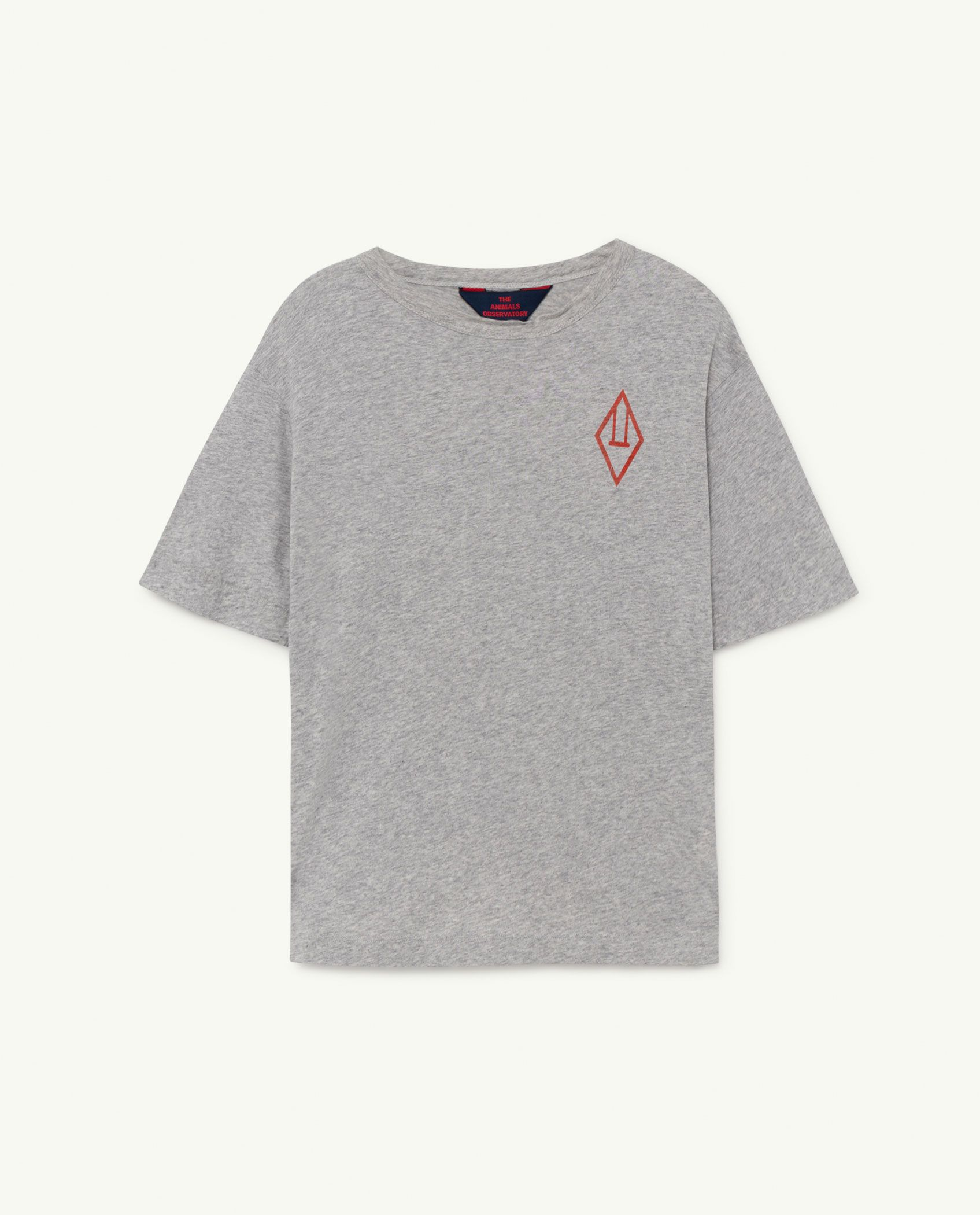 Grey Logo Rooster Oversize T-shirt img-1
