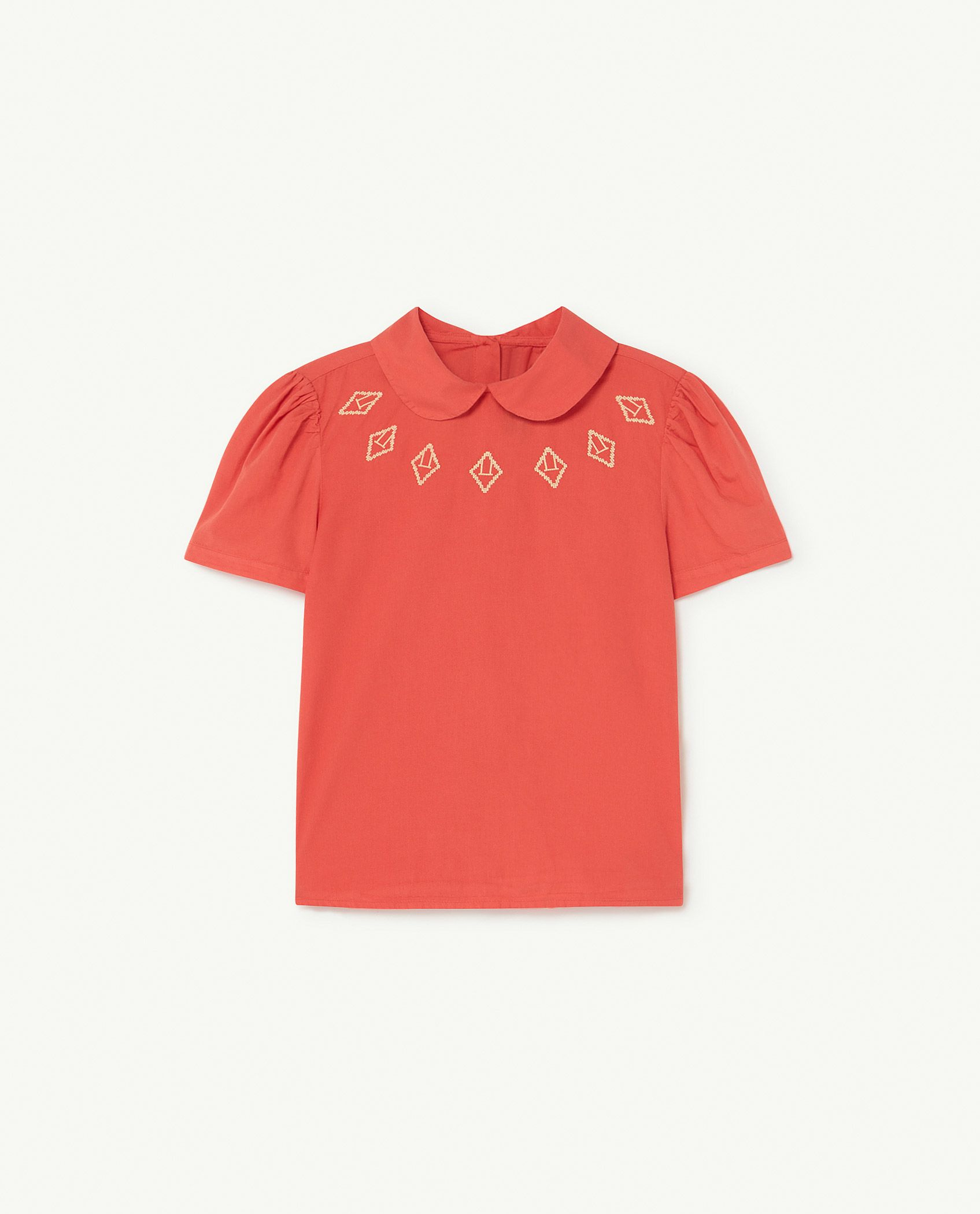 Red Logos Canary Blouse img-1