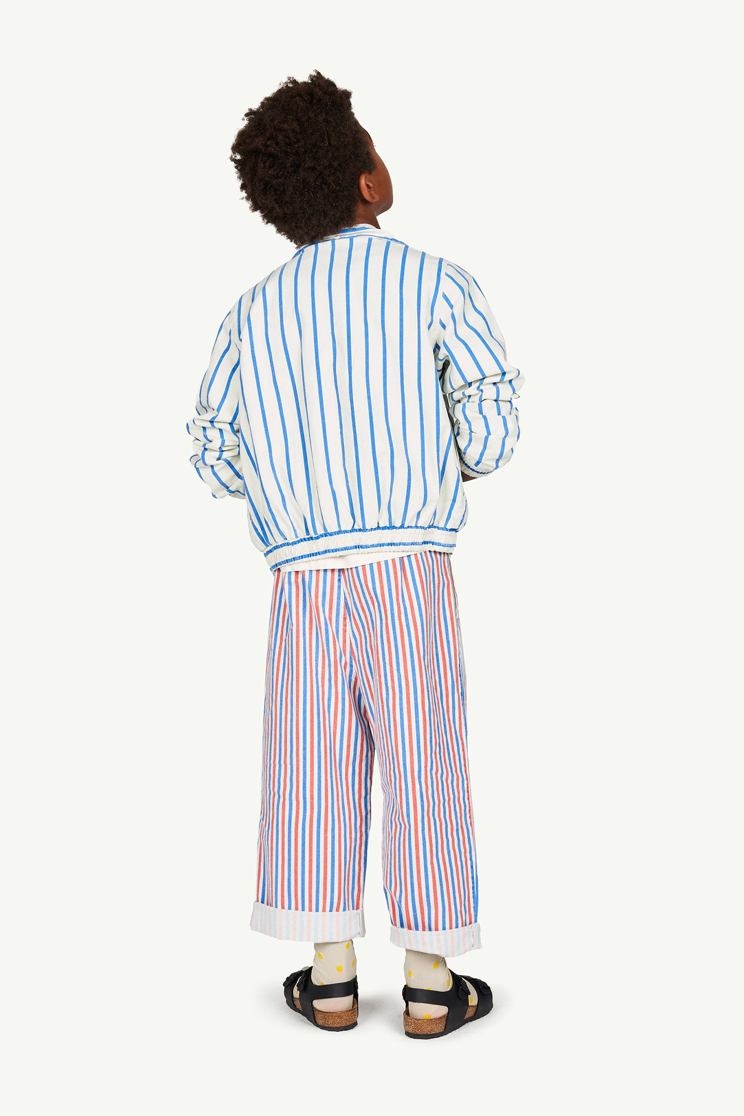 White Stripes Camel Trousers img-6