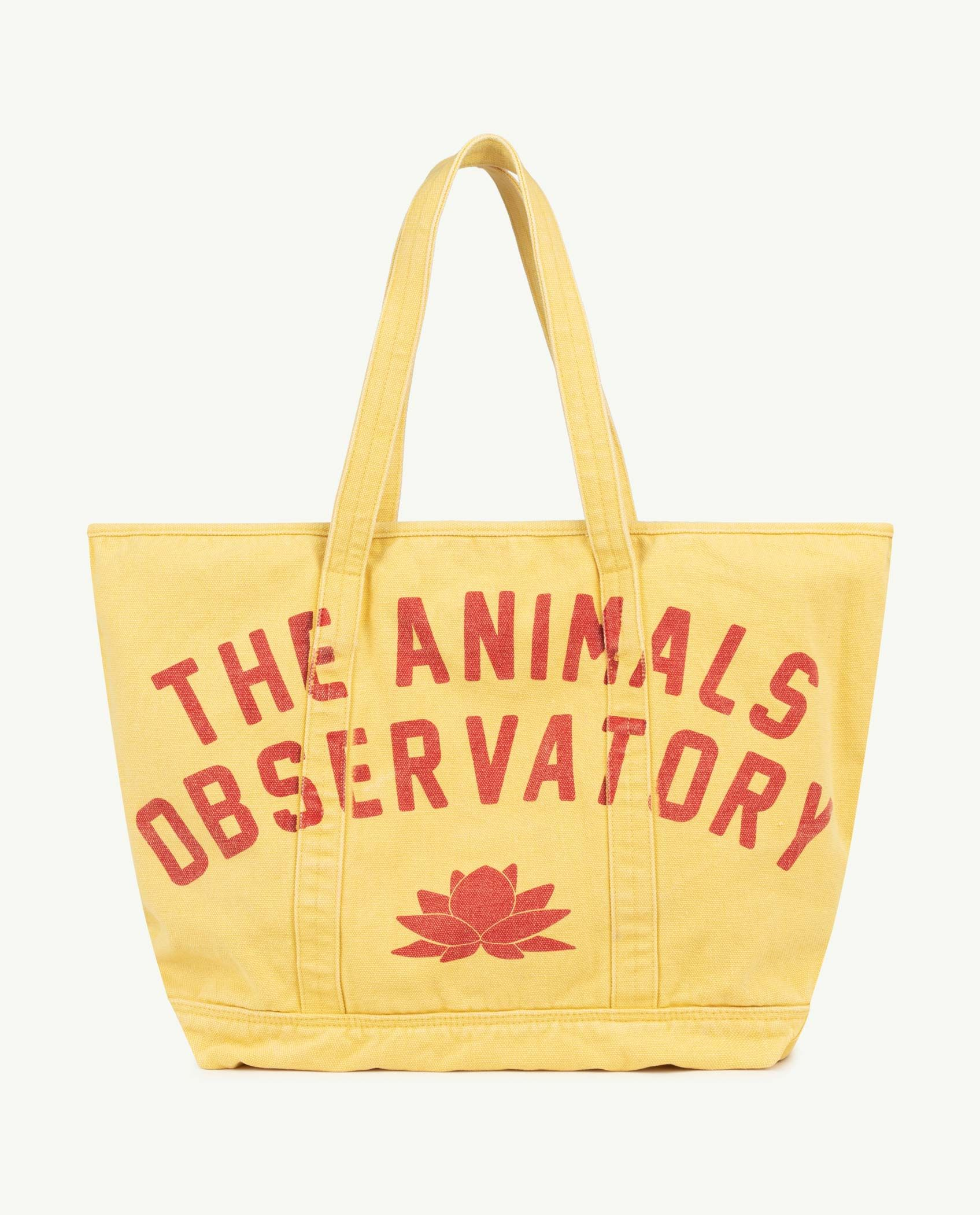 Yellow The Animals Tote Bag img-1