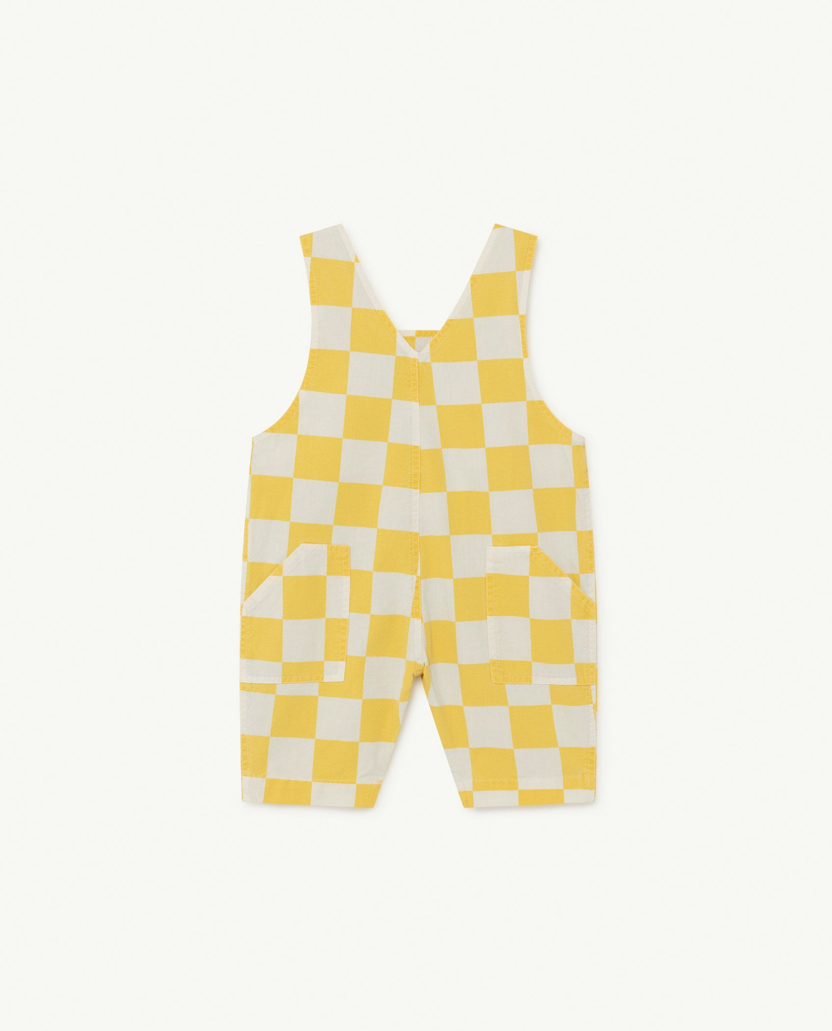White and Yellow Squares Mammoth Baby Jumpsuit img-2