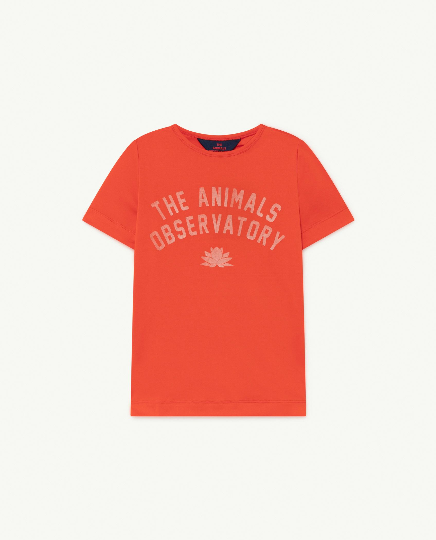 Red The Animals Hippo Swim T-shirt img-1