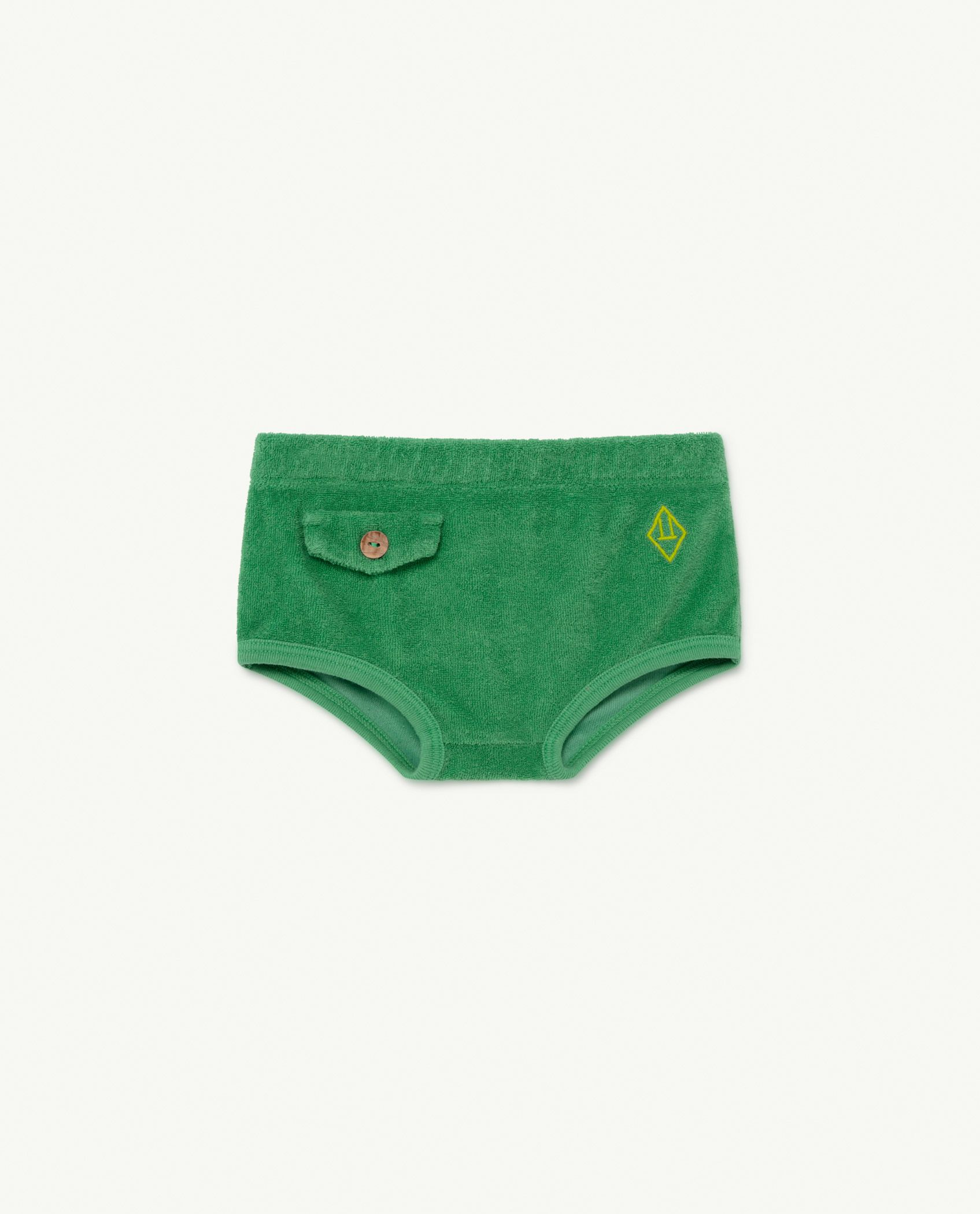 Green Logo Chicken Baby Culotte img-1