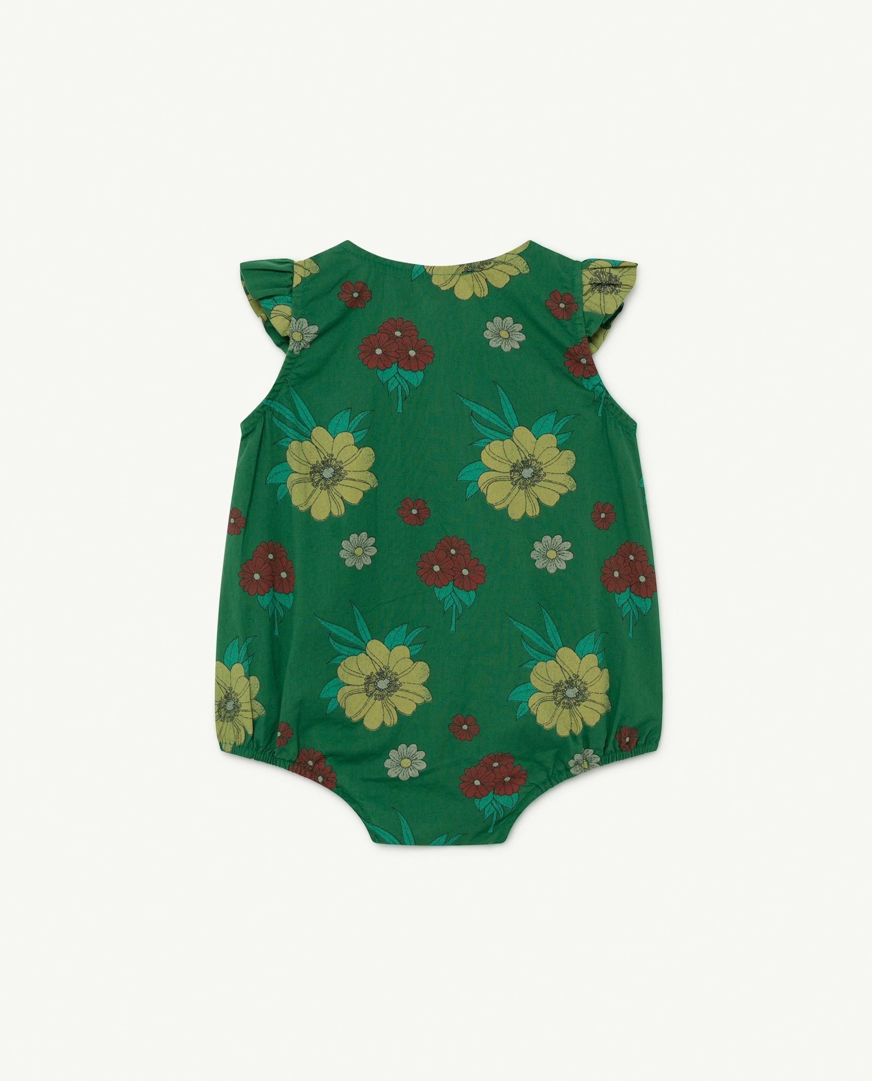Green Flowers Butterfly Baby Body img-2