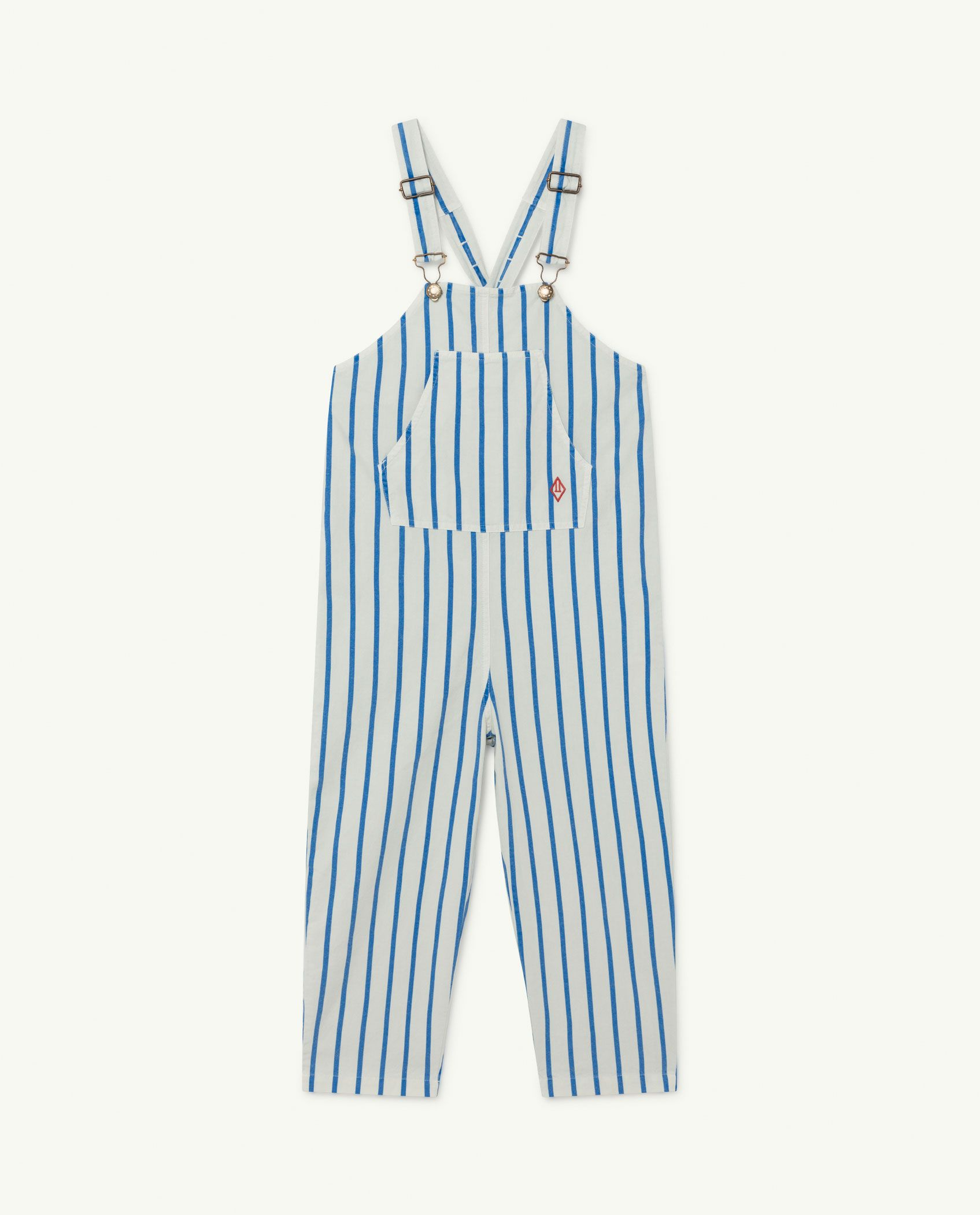 White and Blue Stripes Mammoth Jumpsuit img-1