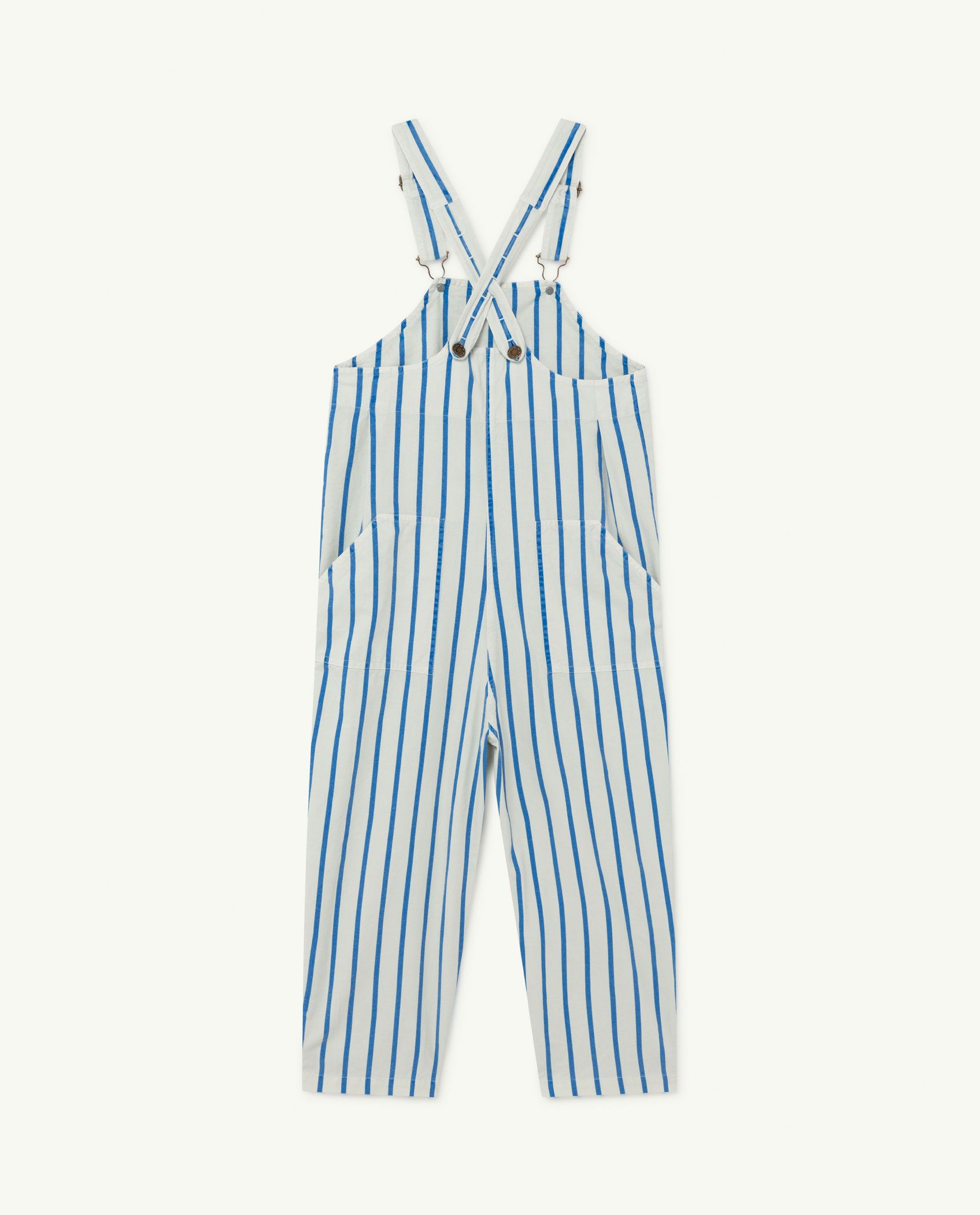 White and Blue Stripes Mammoth Jumpsuit img-2
