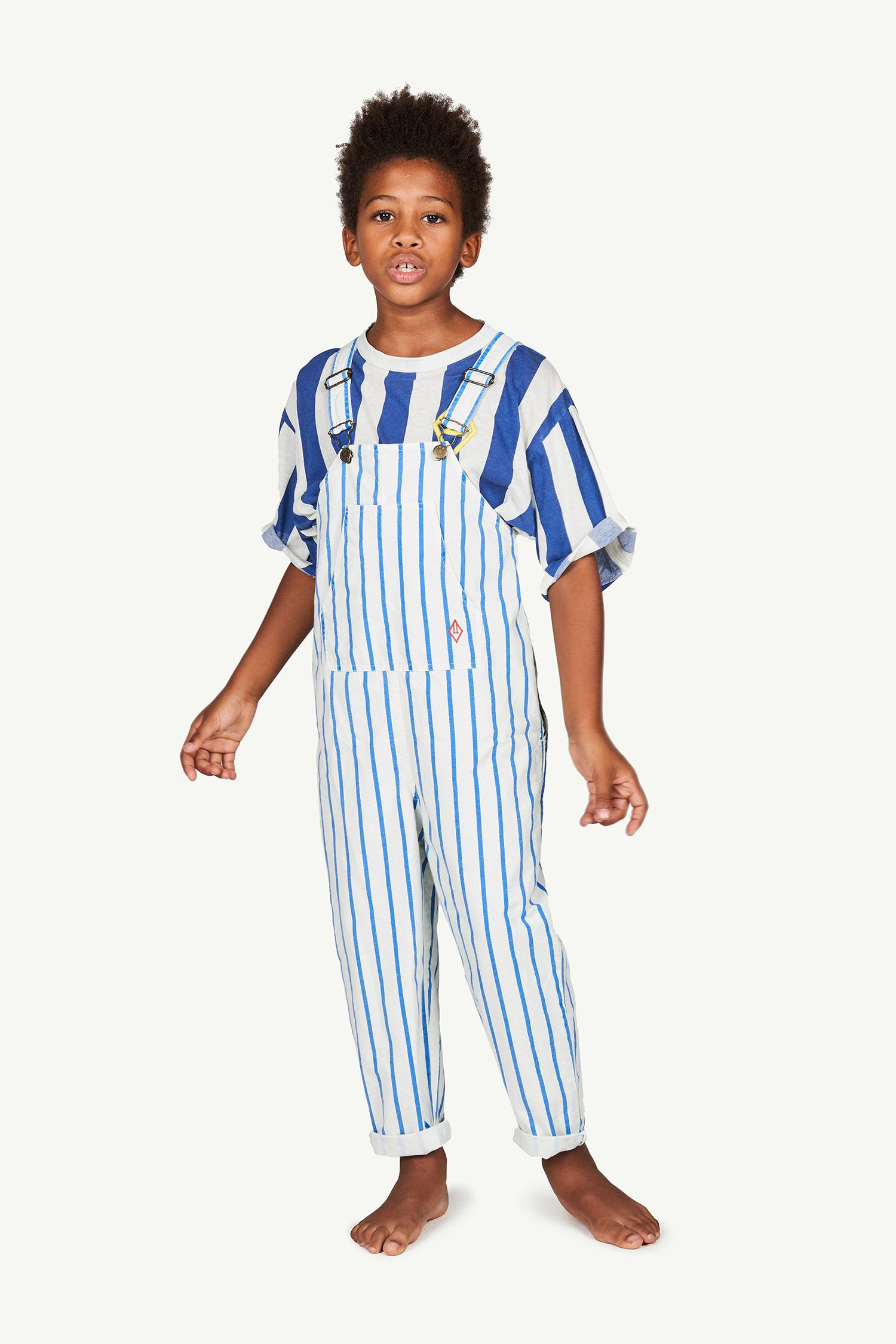 White and Blue Stripes Mammoth Jumpsuit img-4