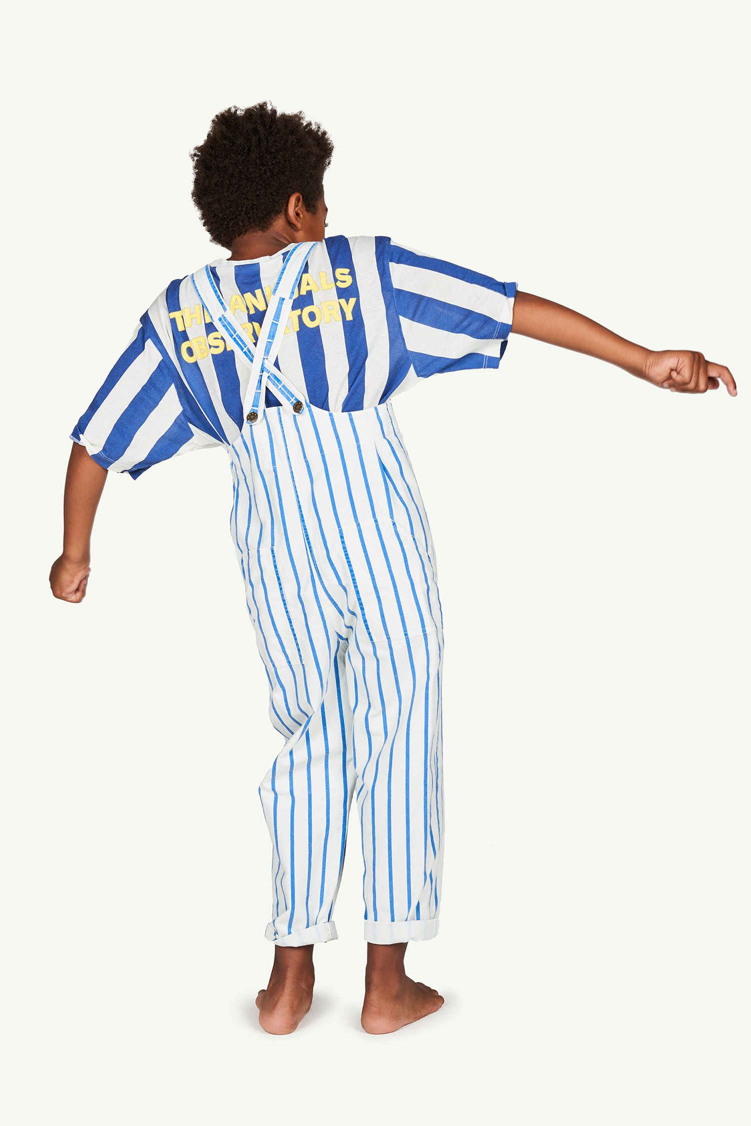 White and Blue Stripes Mammoth Jumpsuit img-6
