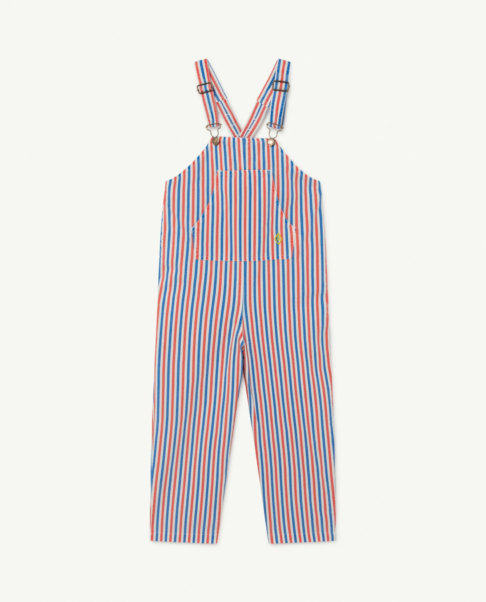 White and Red Stripes Mammoth Jumpsuit img-1