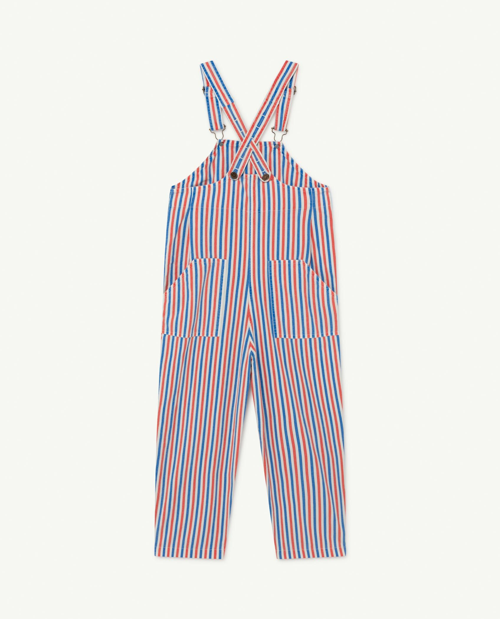 White and Red Stripes Mammoth Jumpsuit img-2