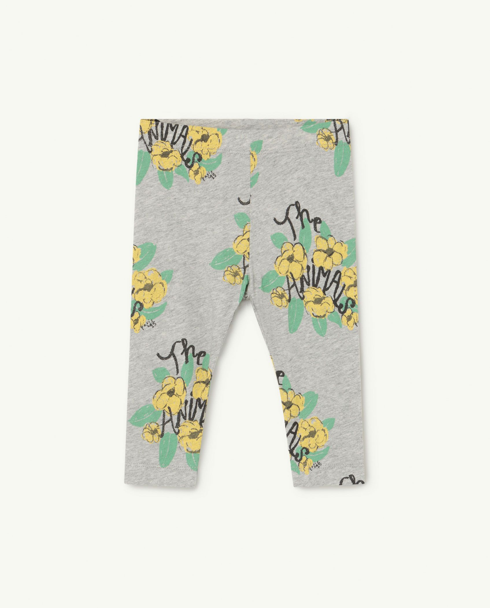 Grey Flowers Penguin Baby Leggings img-1