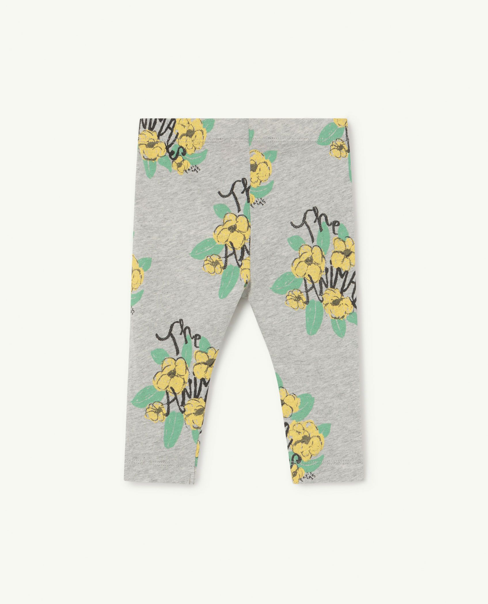Grey Flowers Penguin Baby Leggings img-2