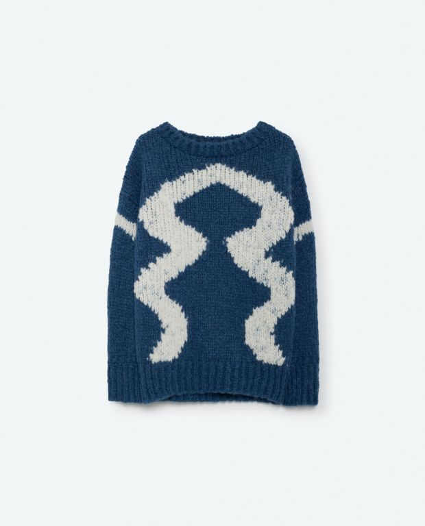 Blue Bull Knit Sweater