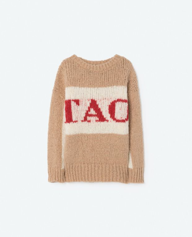 Beige Bull Knit Sweater