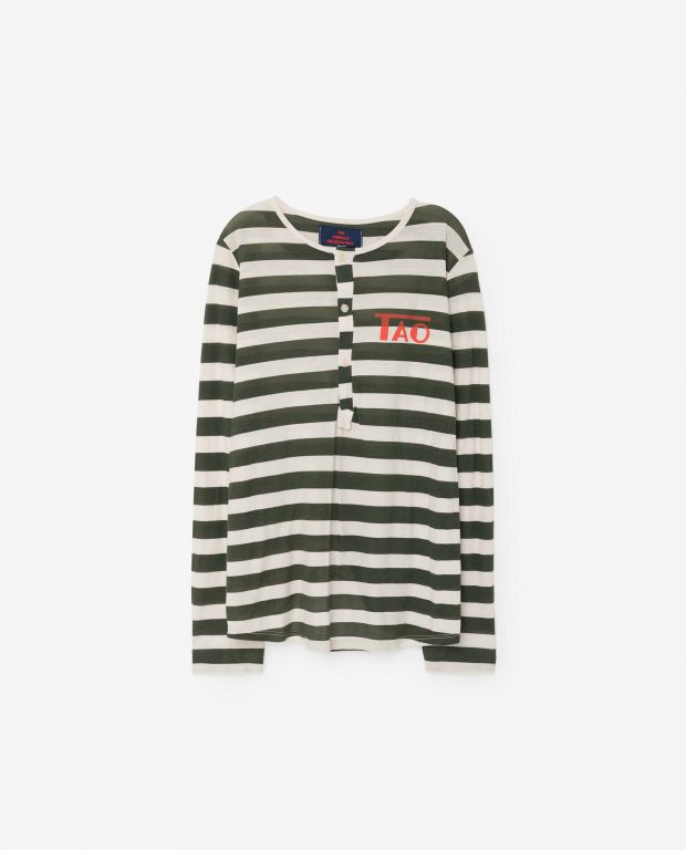 Stripes Deer Long Sleeve Shirt