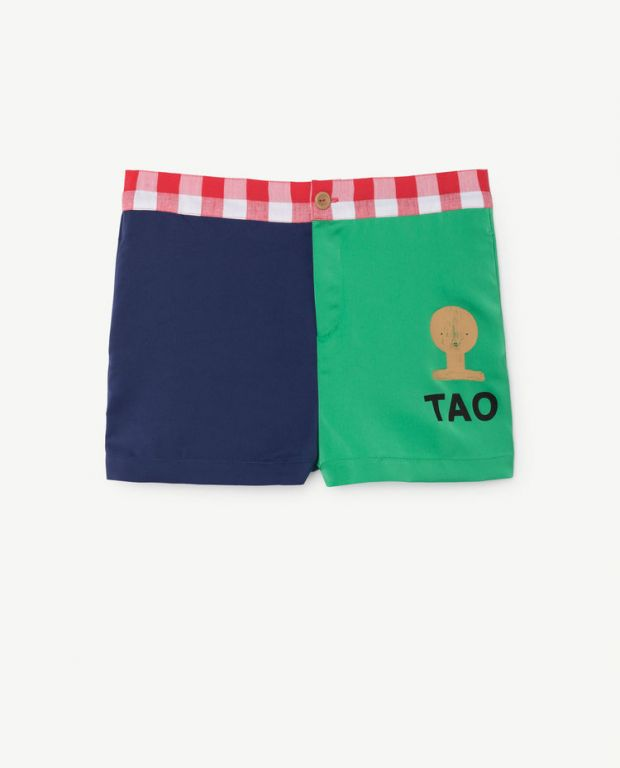 Blue Green Bee Shorts