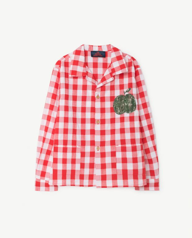 Red Stripes Wolf Shirt