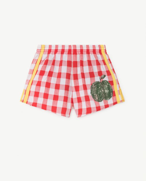 Red Stripes Spider Shorts