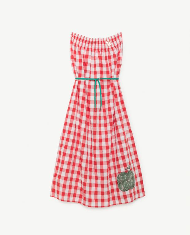 Red Stripes Dolphin Dress