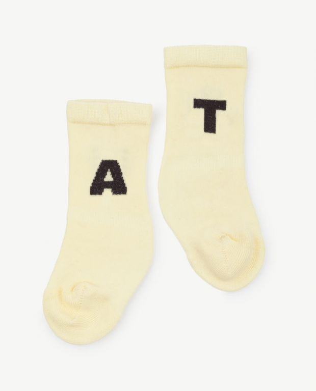 Yellow Worm Short Socks