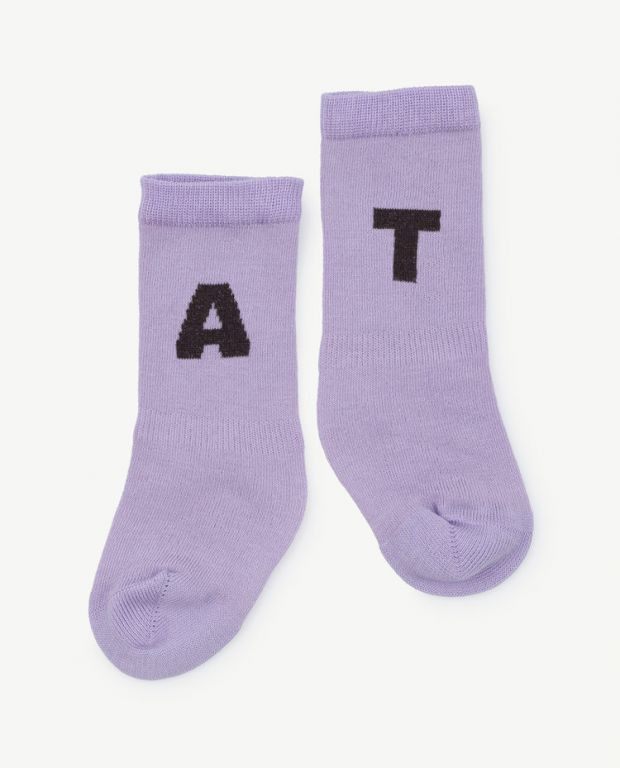 Purple Worm Short Socks